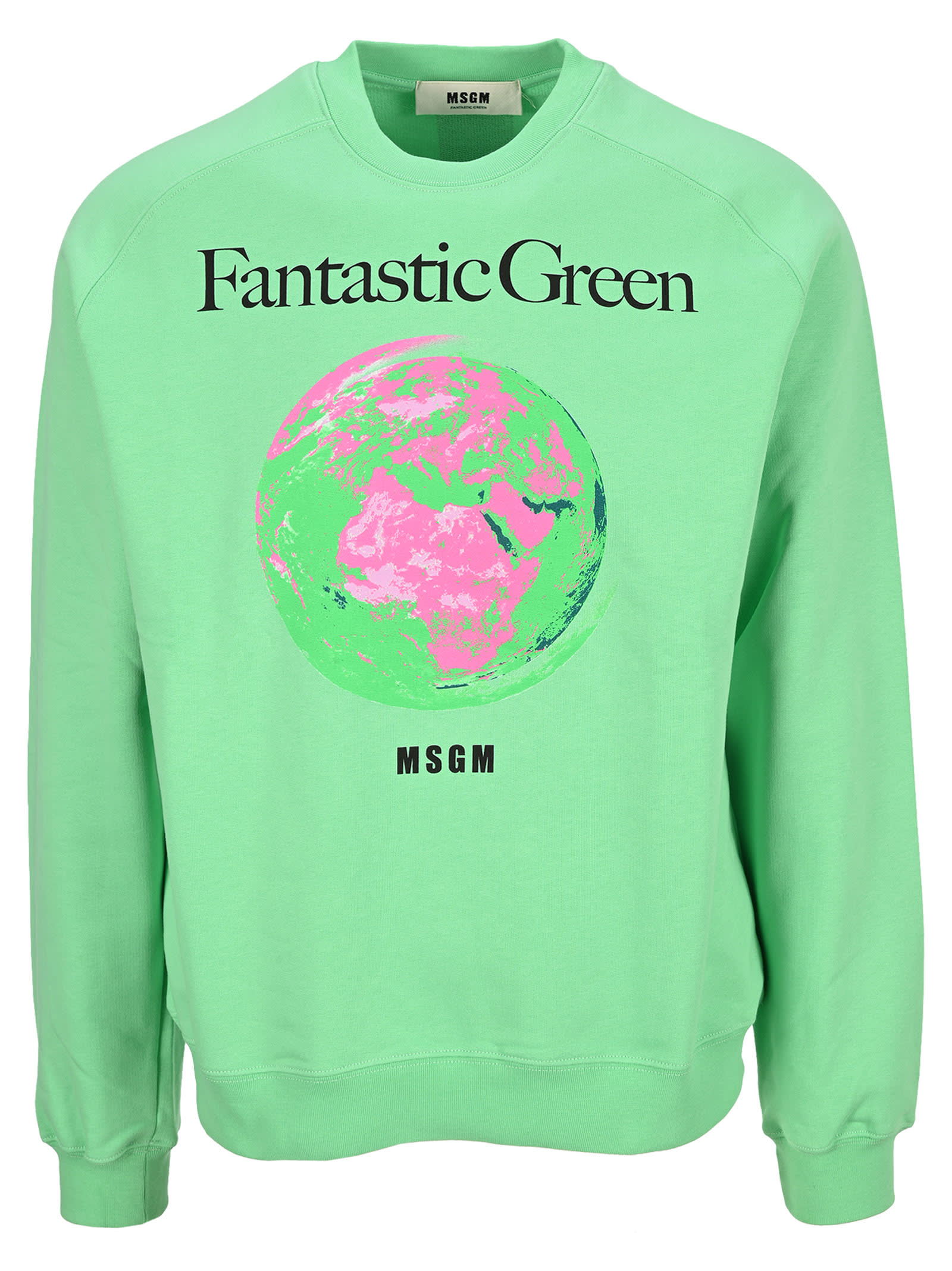 Msgm Cottons MSGM FANTASTIC GREEN SWEATSHIRT