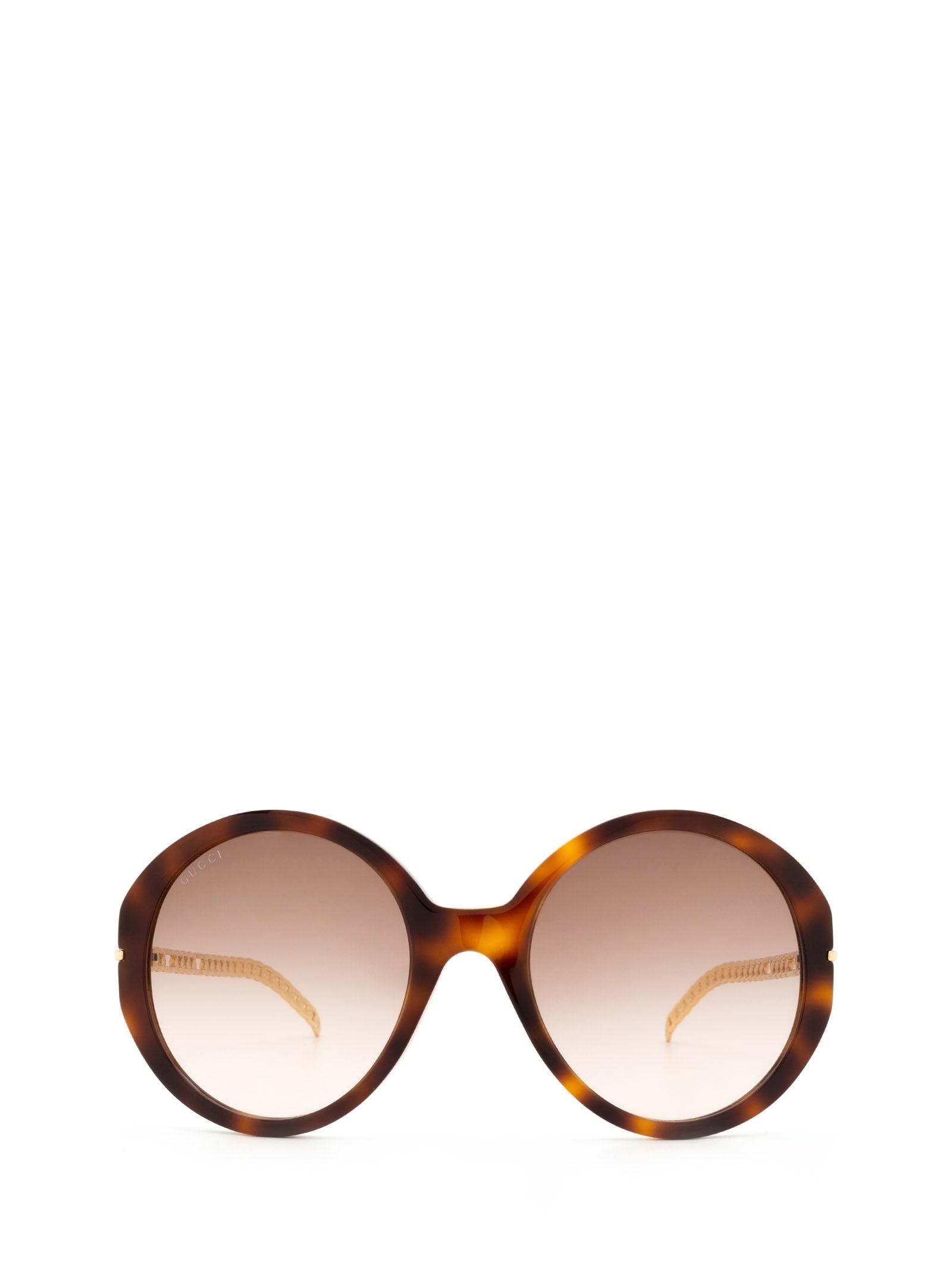 Gucci Gucci Gg0726s Havana Sunglasses