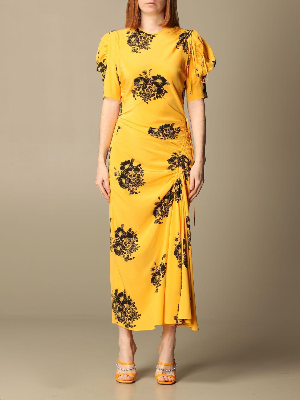 Buy N? 21 Dress N ° 21 Midi Dress In Patterned Silk online, shop N.21 with free shipping