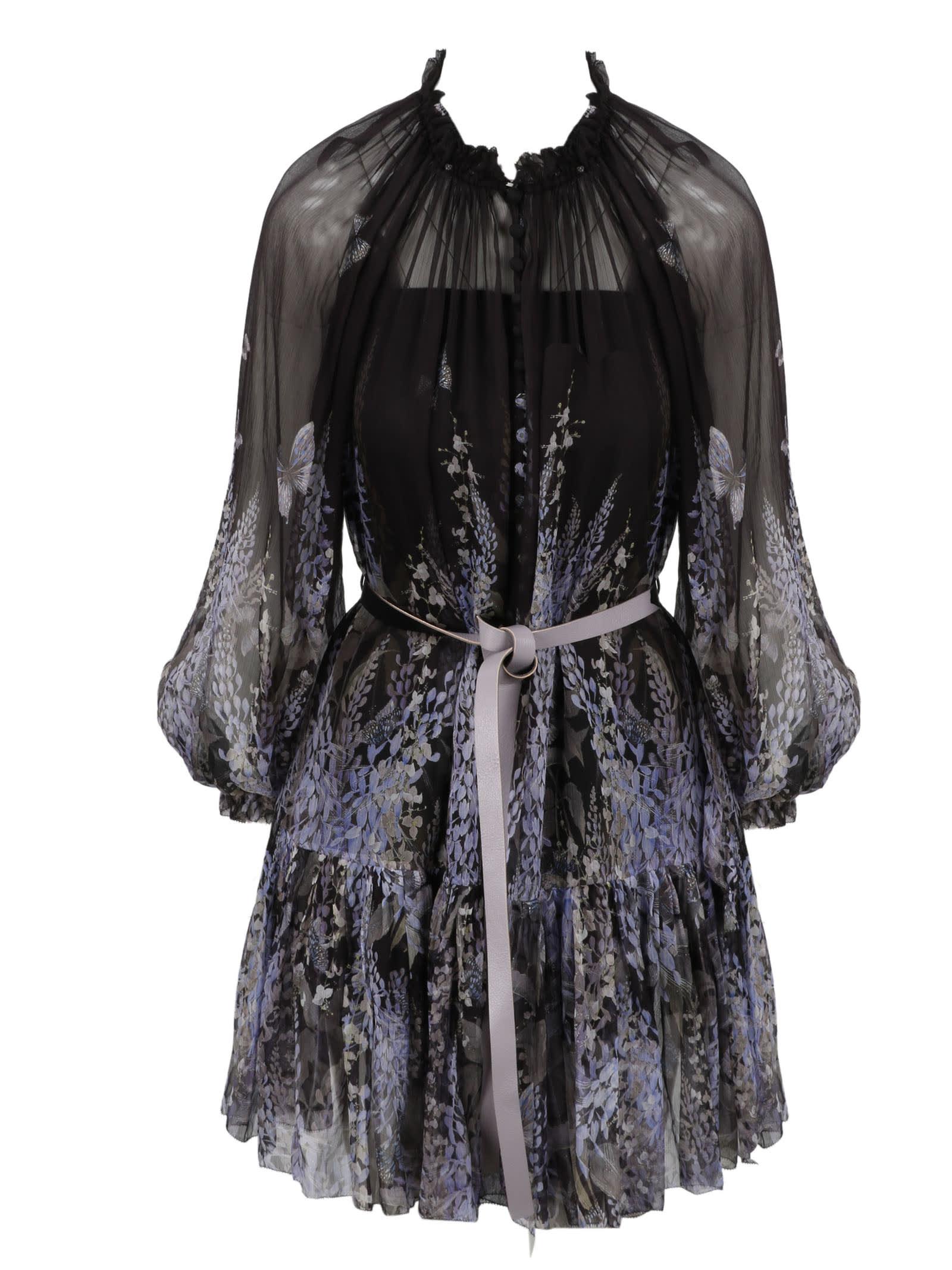 Buy Zimmermann Botanica Lantern Mini Dress online, shop Zimmermann with free shipping