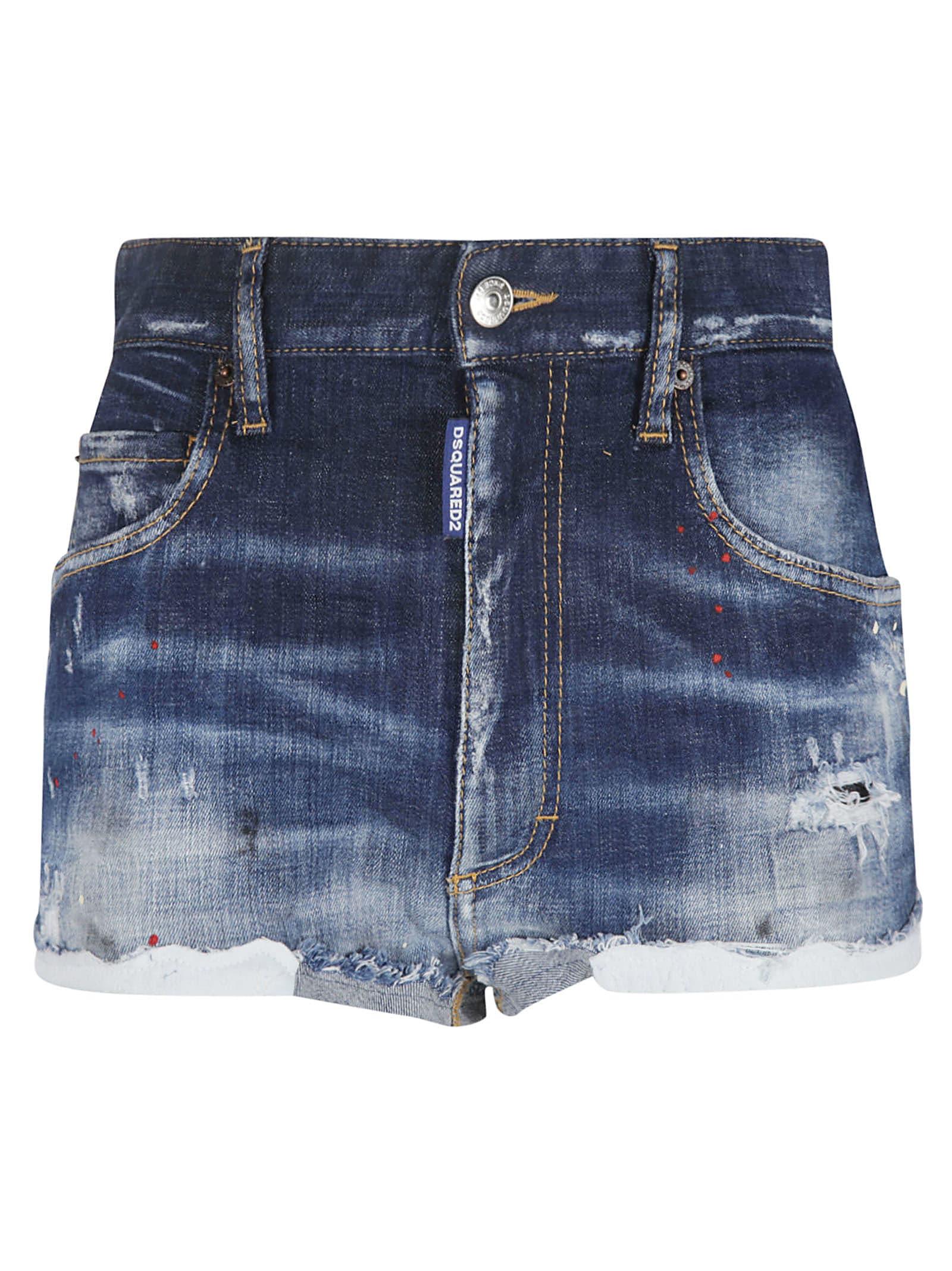 Dsquared2 Shorts DISTRESSED DENIM SHORTS