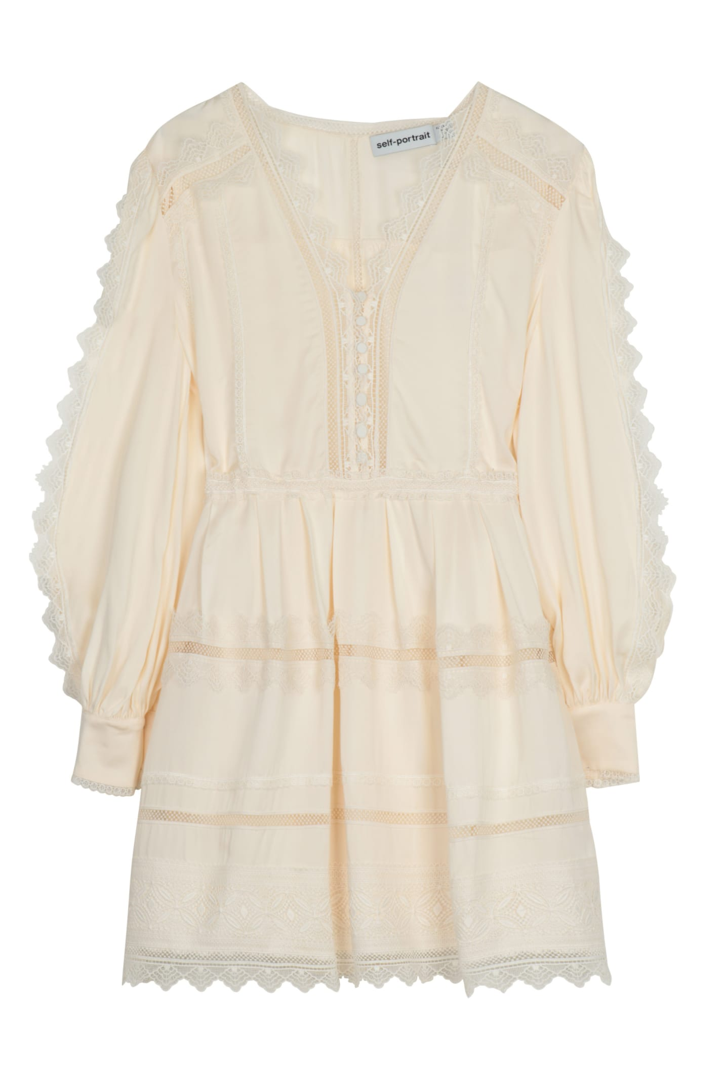 Buy self-portrait Lace Trim Mini Dress online, shop self-portrait with free shipping