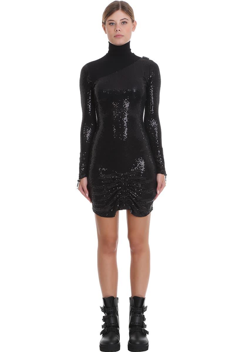 Marcelo Burlon Dress In Black Cotton