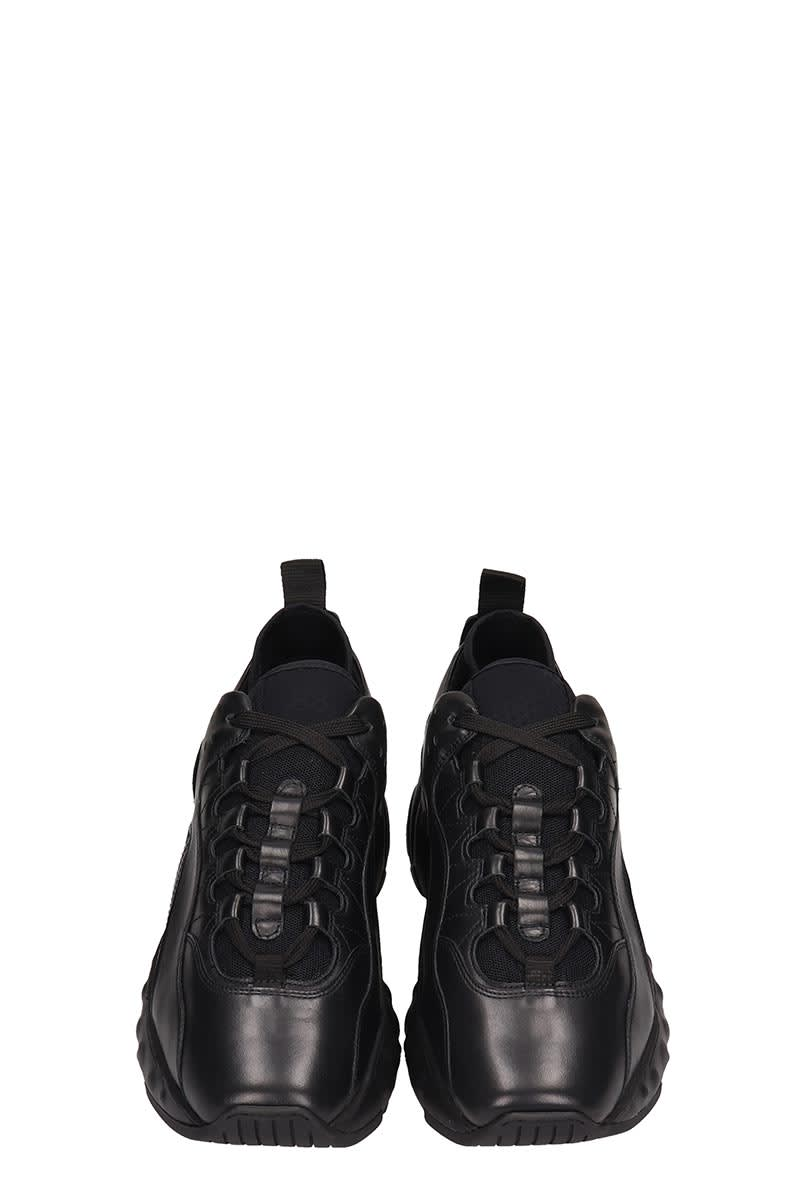 377a5651a2a Acne Studios Black Leather Rockaway Sneakers