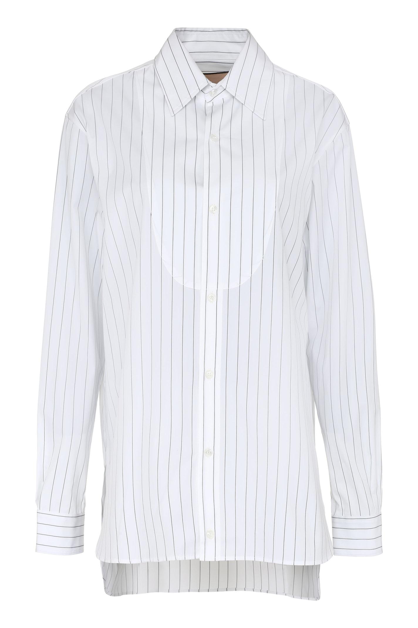 Plan C Striped Poplin Shirt