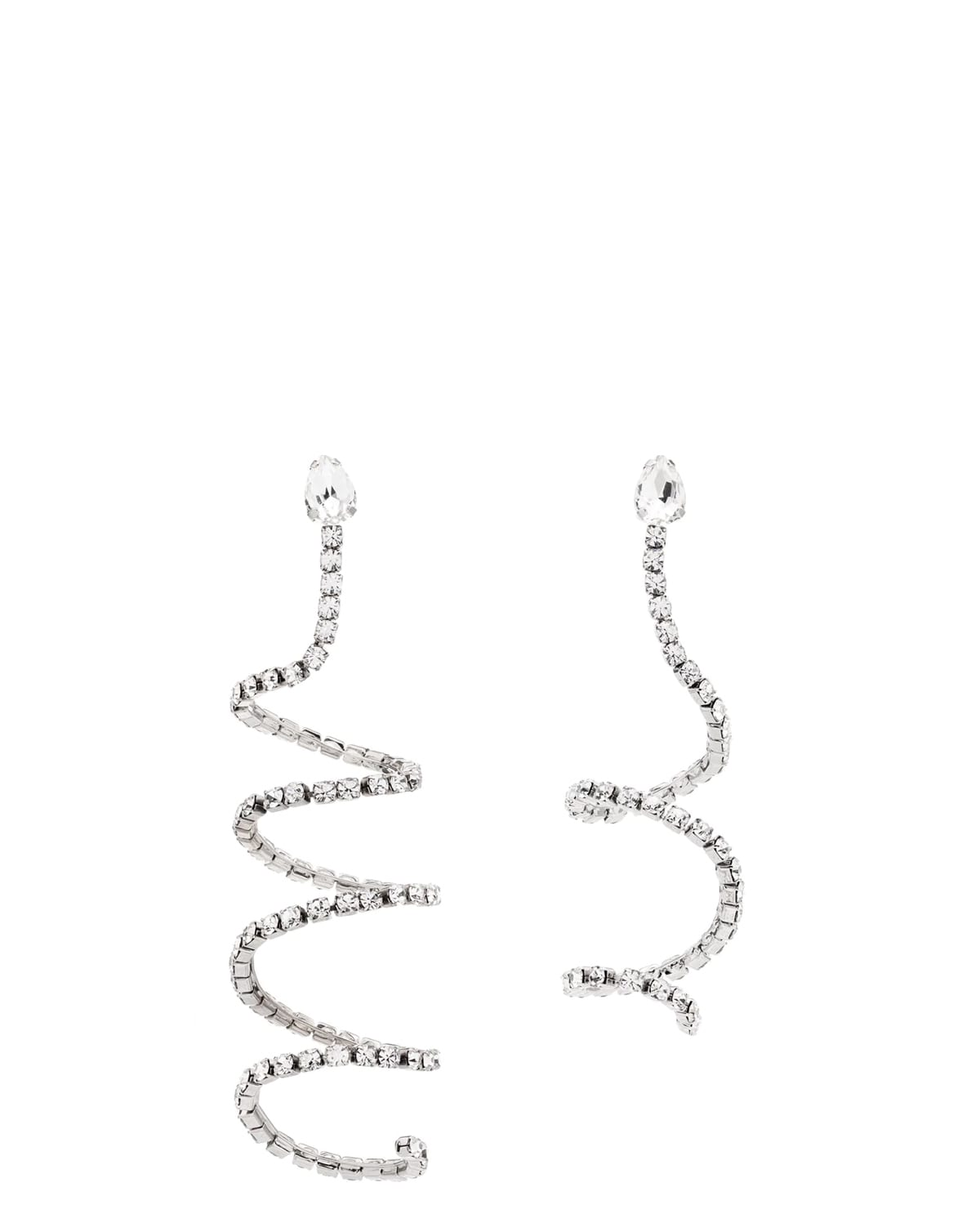 Area Silver Spiral Earrings
