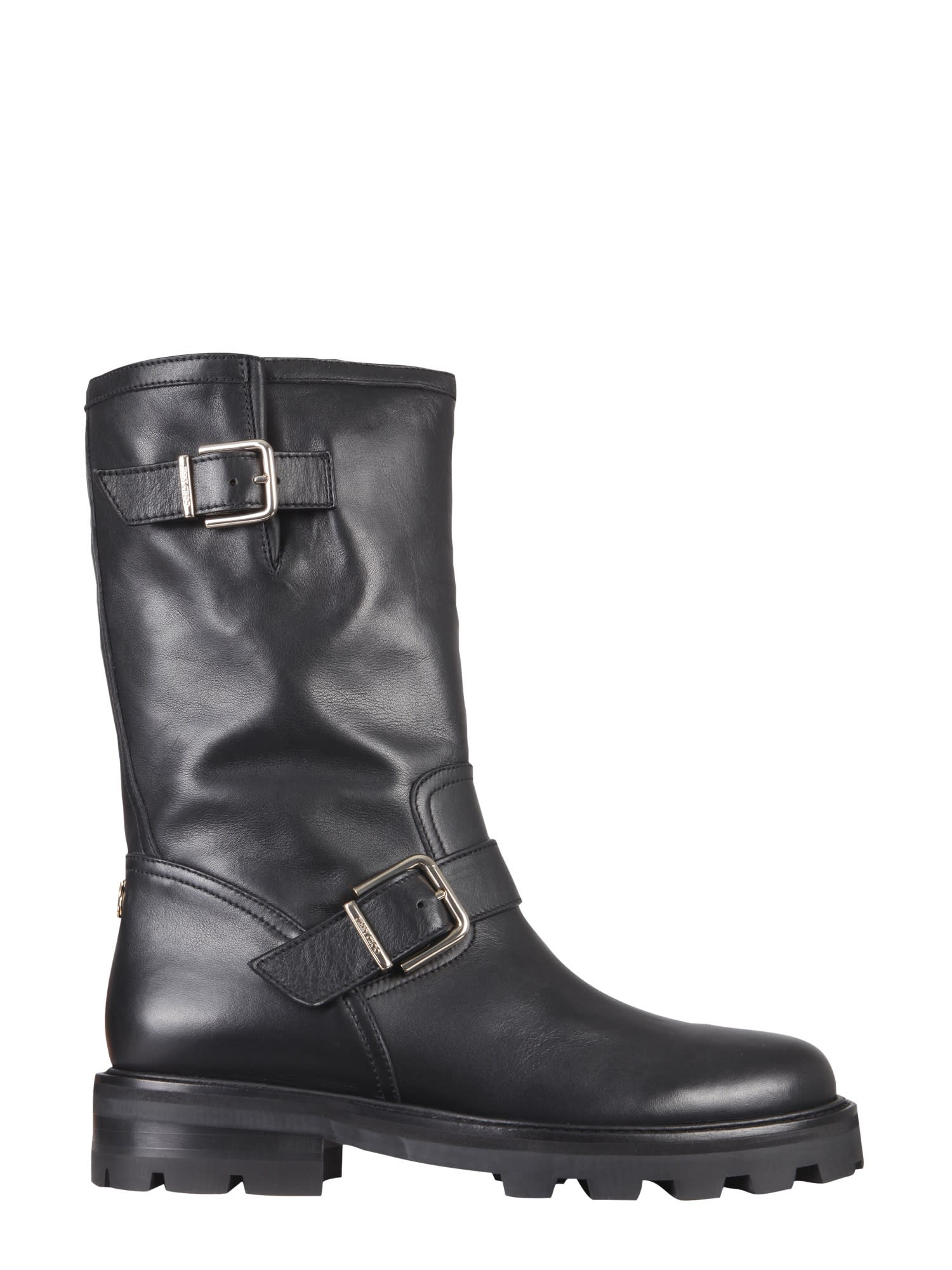 Buy Jimmy Choo Biker Ii Boots online, shop Jimmy Choo shoes with free shipping