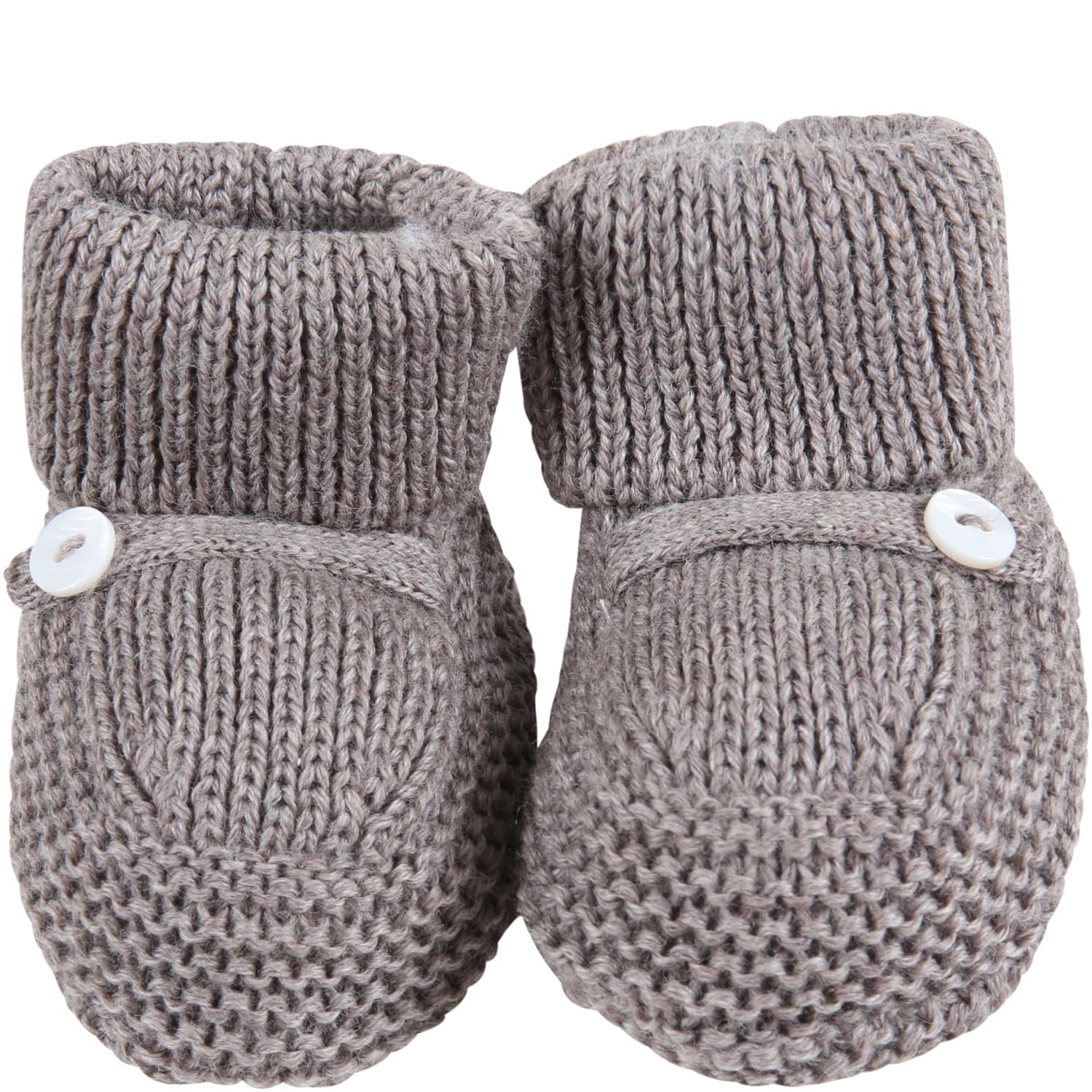 Beige Baby-bootee For Baby Boy