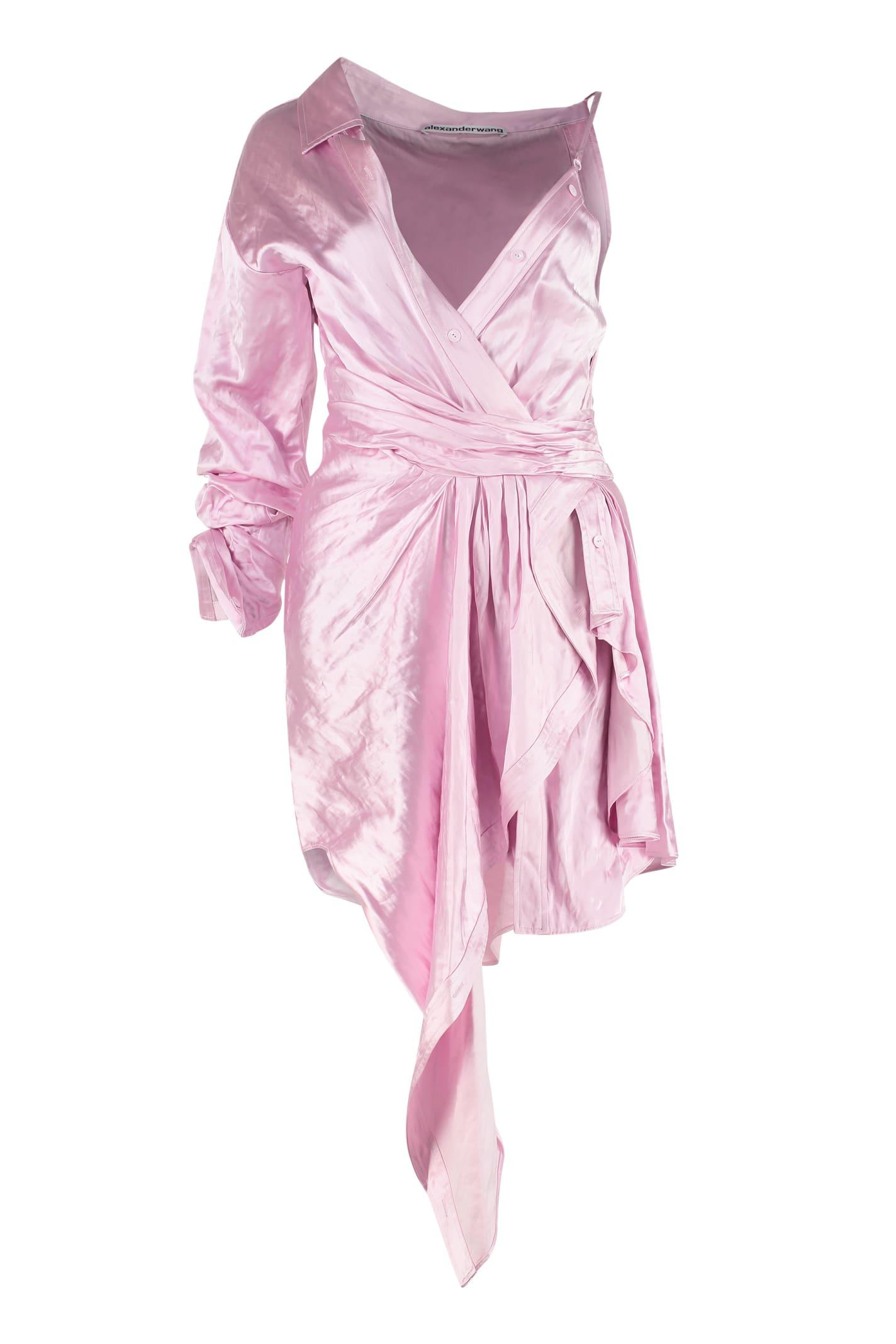 Buy Alexander Wang Asymmetric Mini Dress online, shop Alexander Wang with free shipping