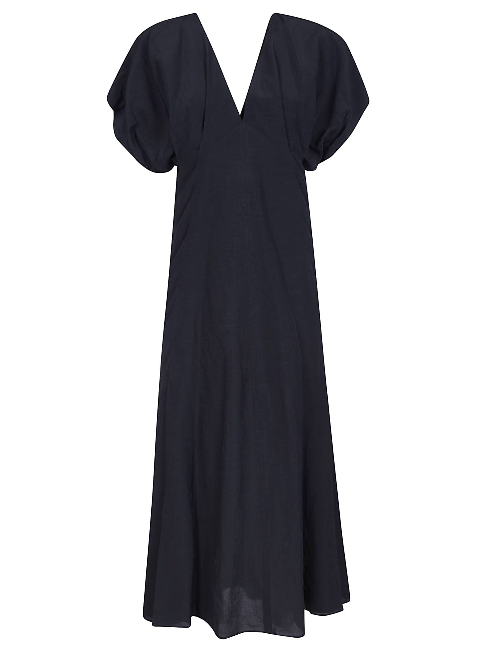 Buy Jil Sander V-neck Dress online, shop Jil Sander with free shipping