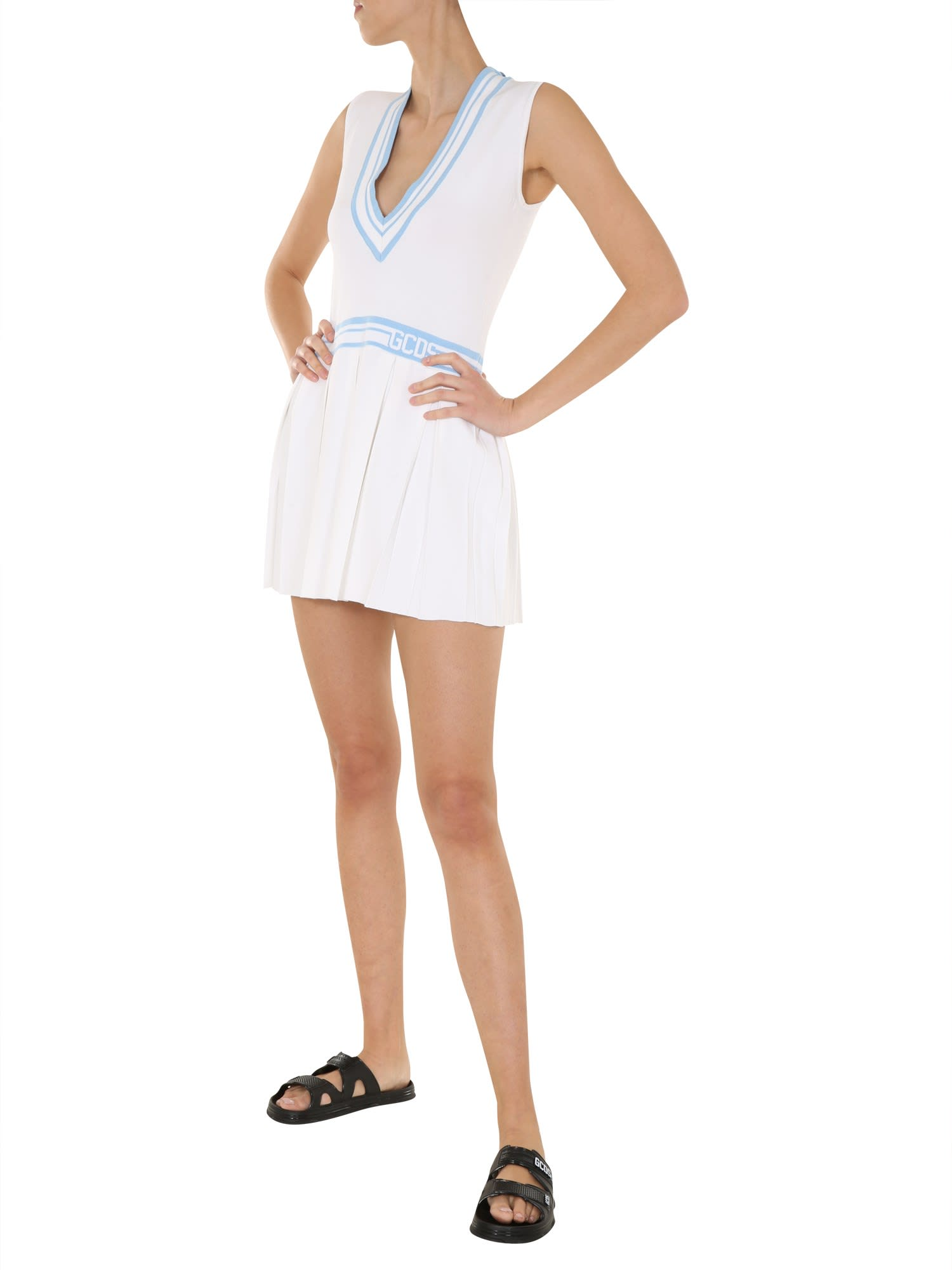 Buy GCDS V-neck Dress online, shop GCDS with free shipping