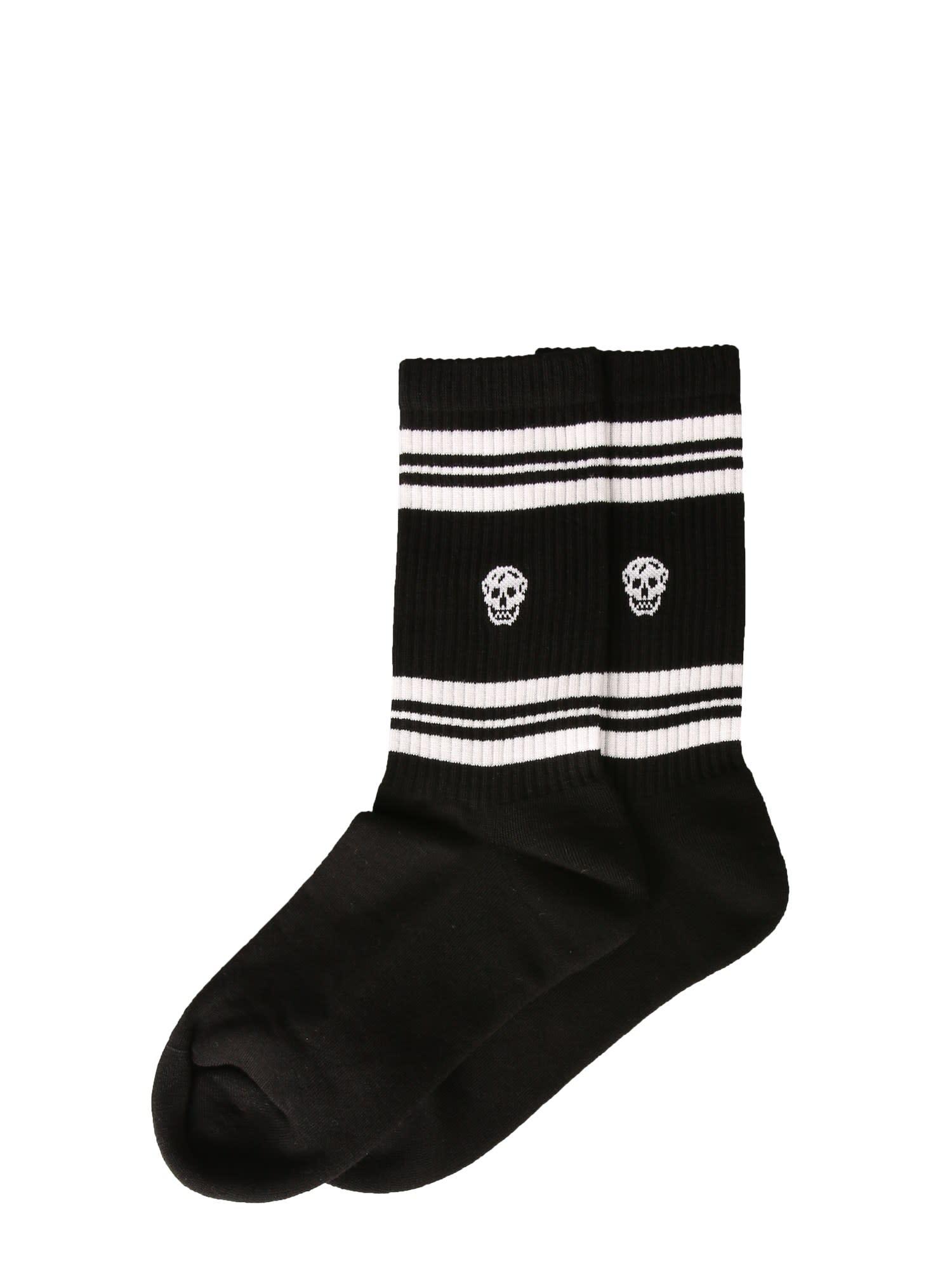 Alexander McQueen Sports Skull Socks
