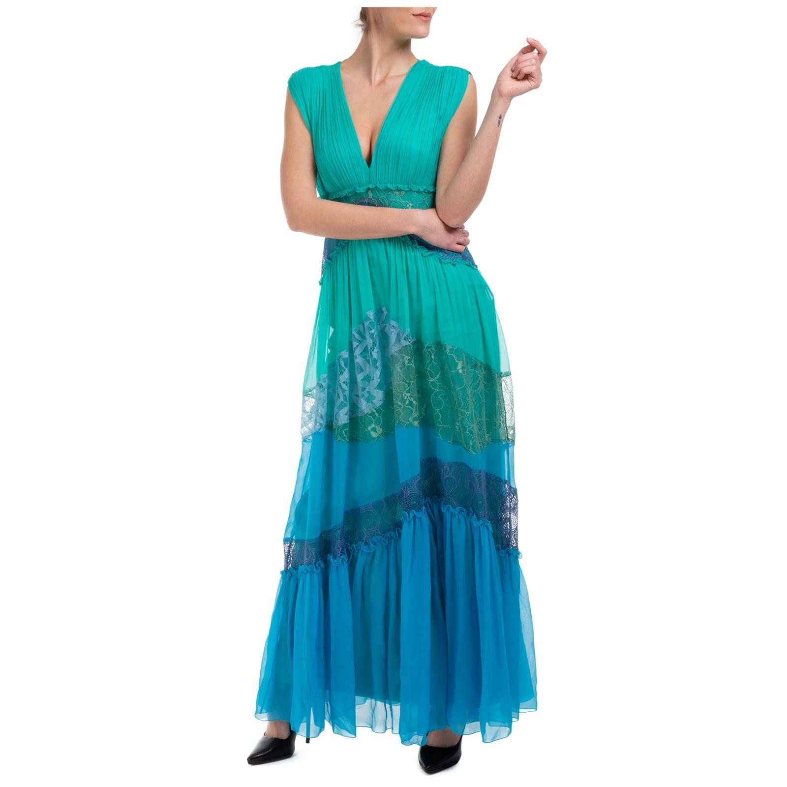 Buy Alberta Ferretti Double Question Mark Maxi Dresses online, shop Alberta Ferretti with free shipping