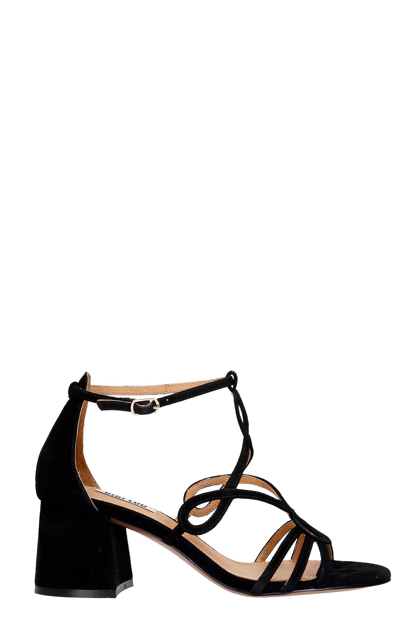 Sandals In Black Suede