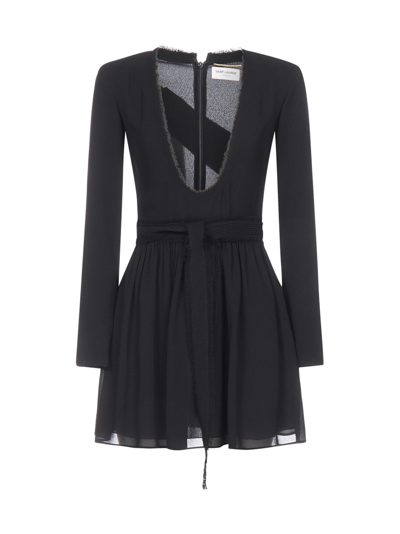Buy Saint Laurent Ls Dress online, shop Saint Laurent with free shipping