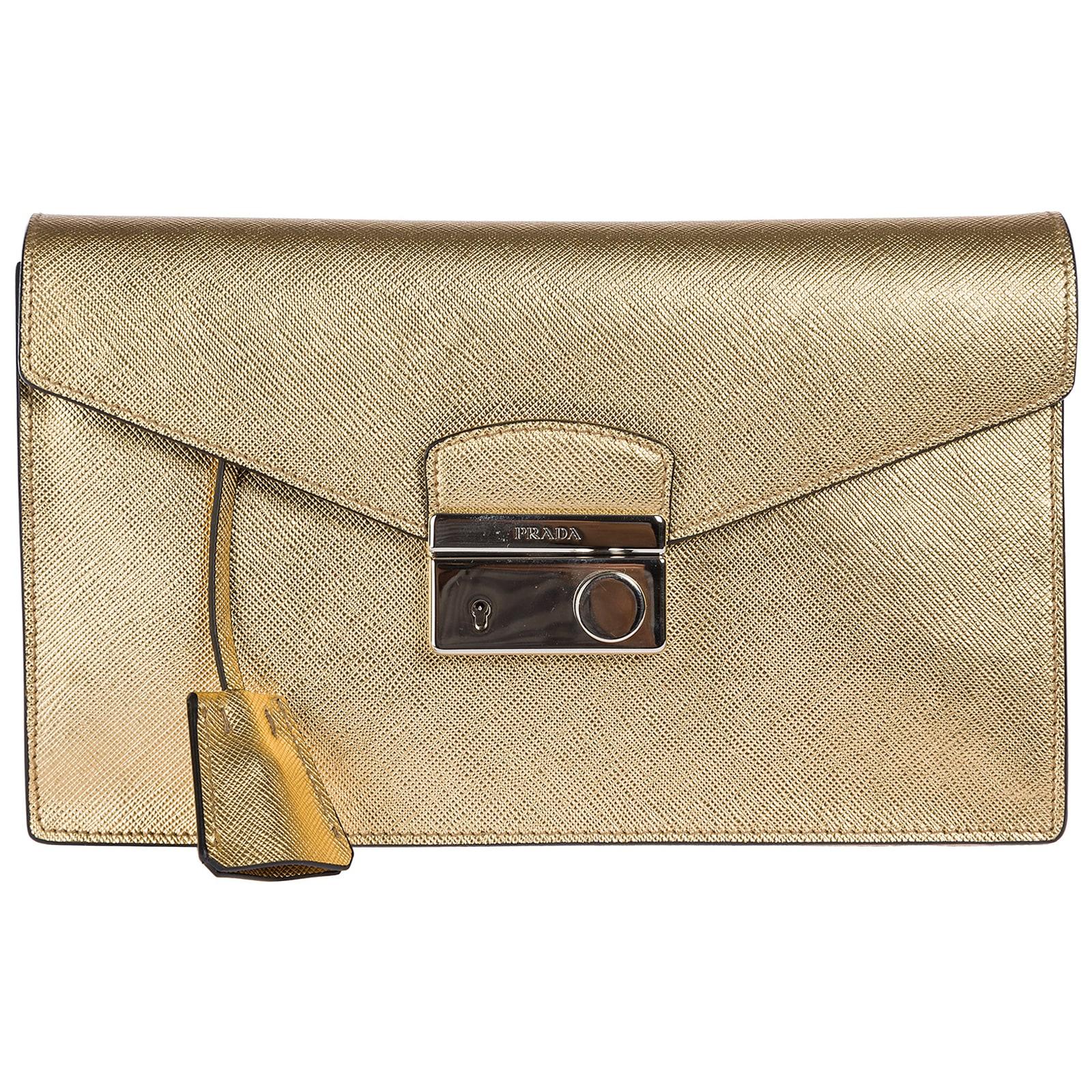Prada Space Plein Clutch Bag