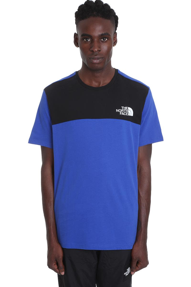 The North Face T-shirts T-SHIRT IN BLUE COTTON
