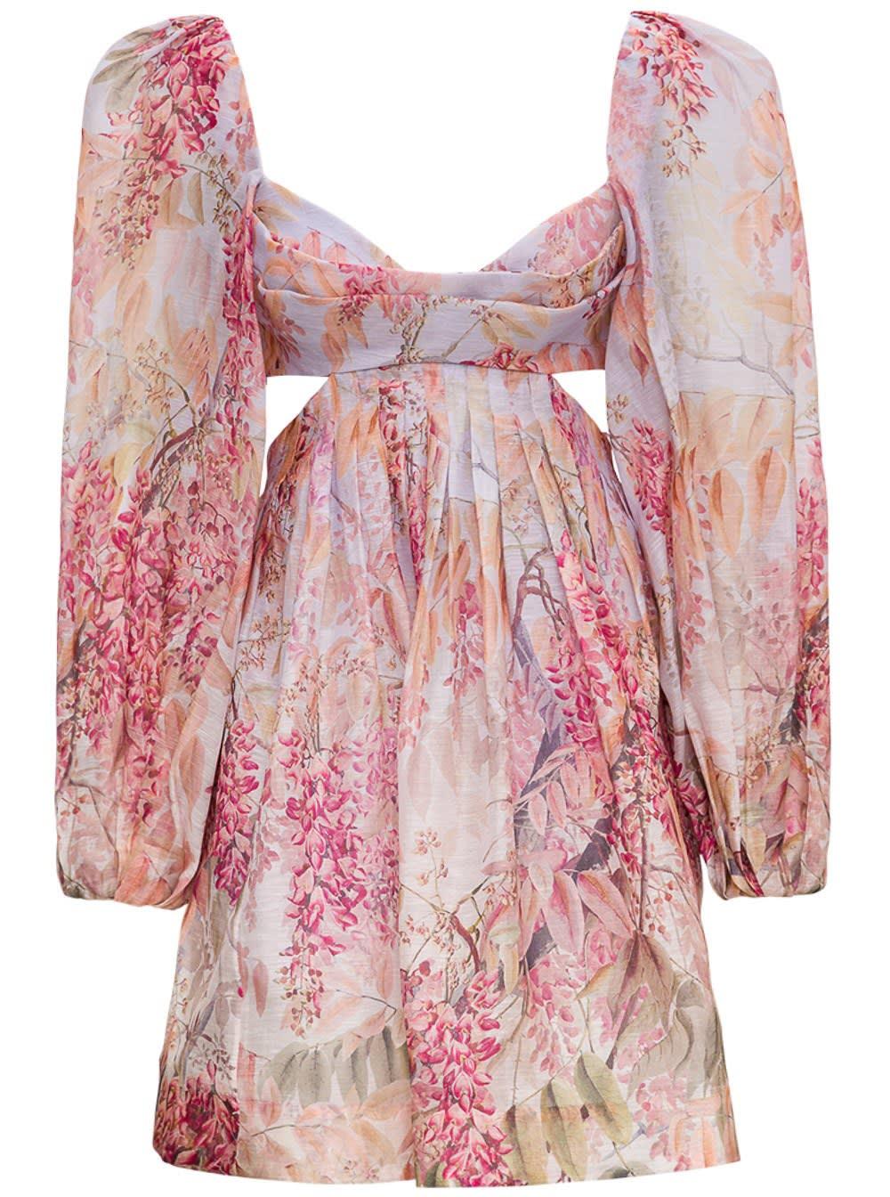 Buy Zimmermann Botanica Bralette Dress In Linen Blend online, shop Zimmermann with free shipping