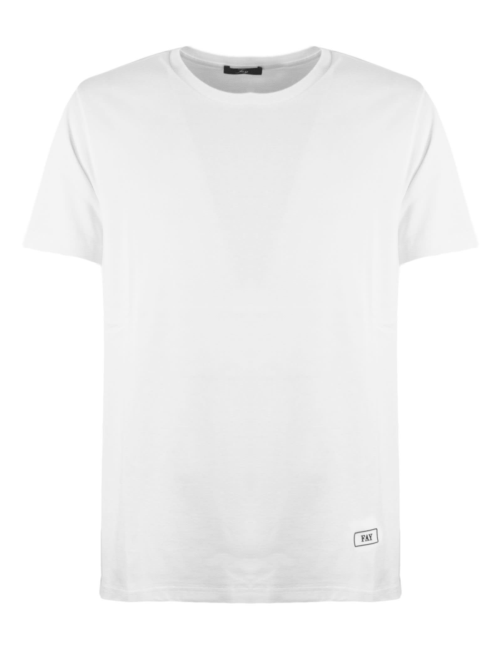 Fay White Cotton T-shirt