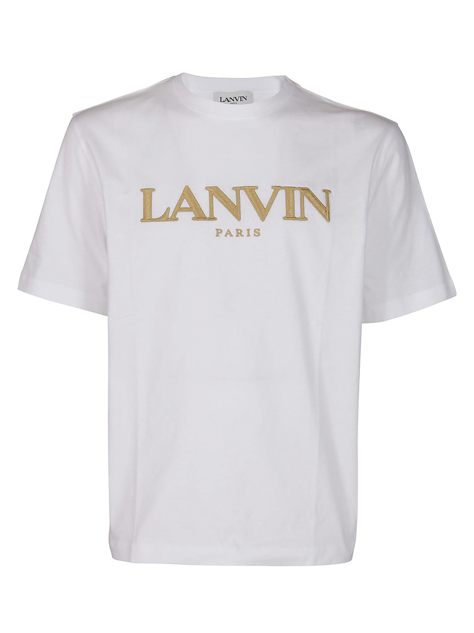 Lanvin T-shirts WHITE COTTON T-SHIRT