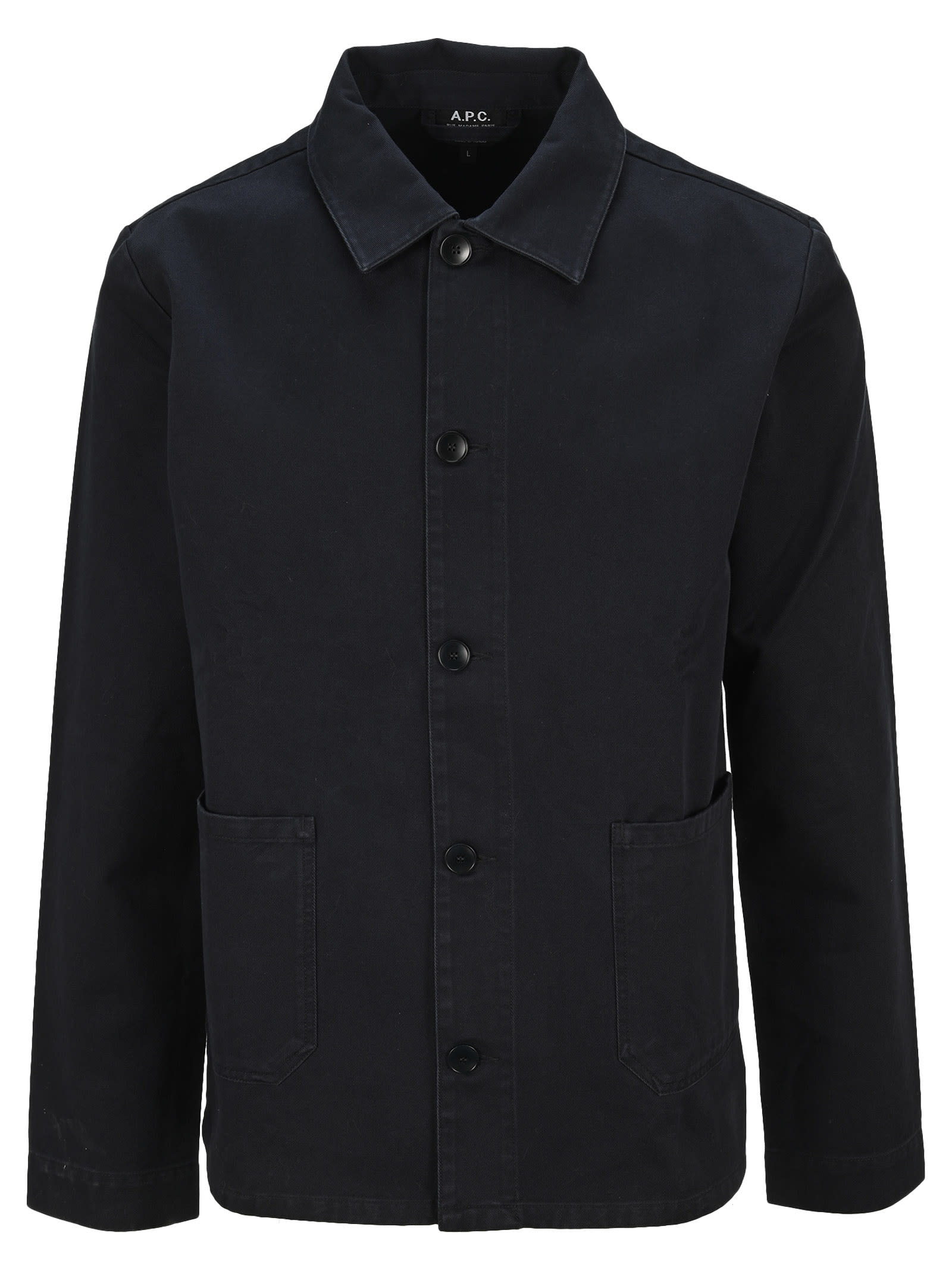 A.p.c. Classic Shirt Jacket In Black