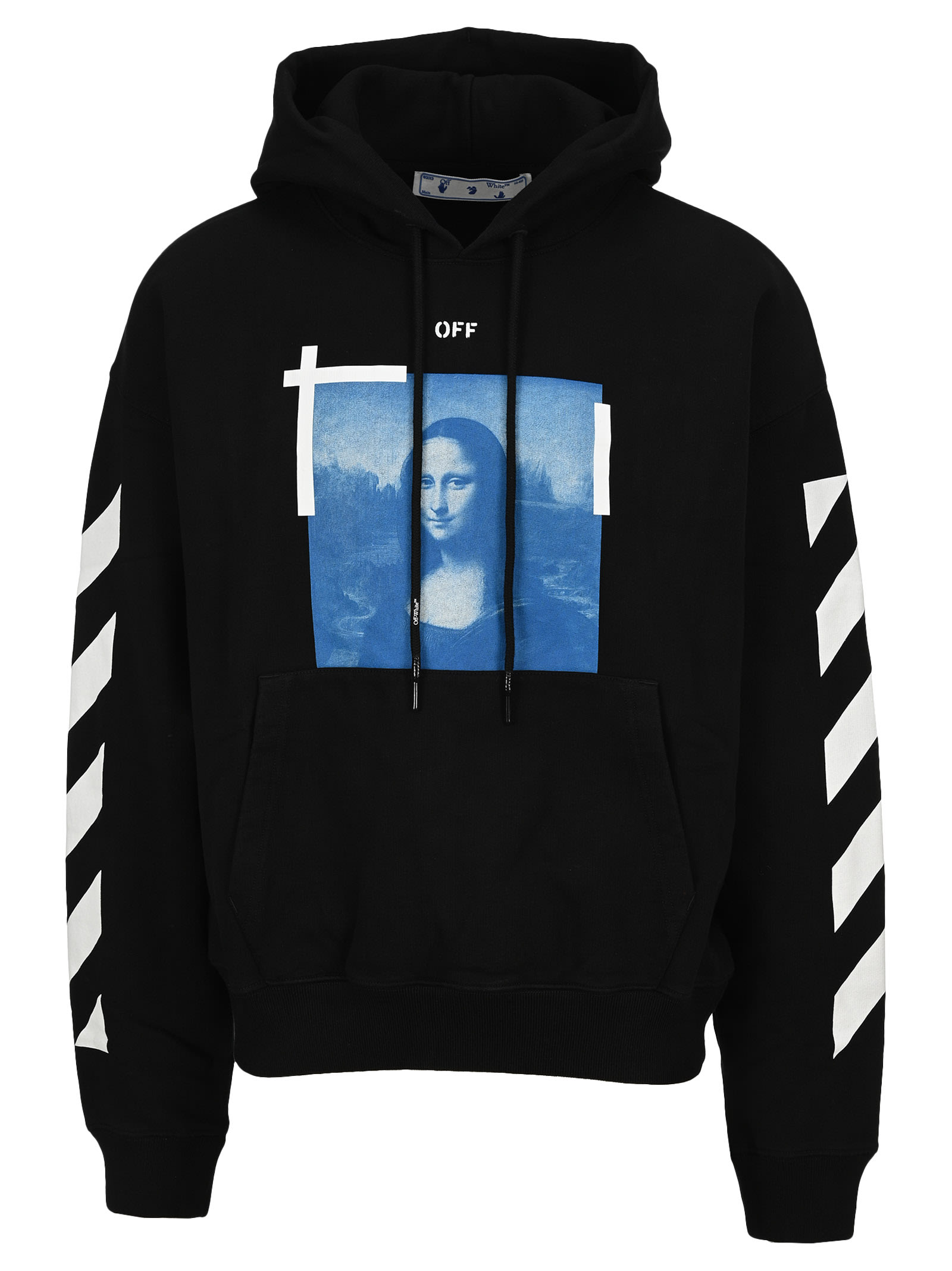 Off-White Cottons OFF WHITE MONA LISA GRAPHIC PRINT HOODIE