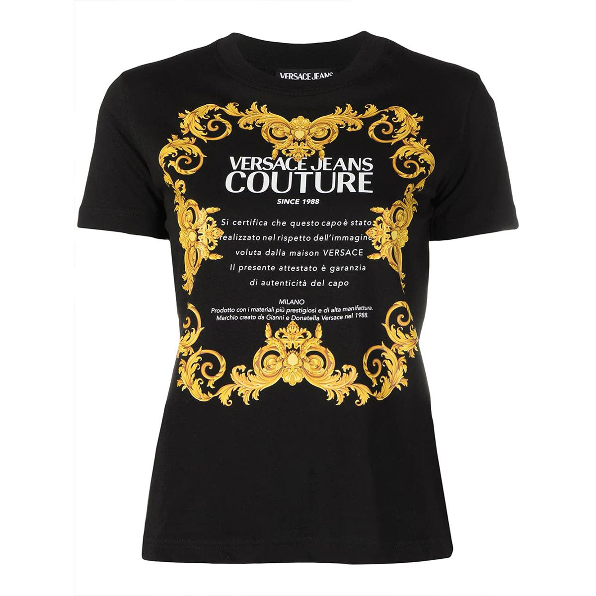Versace Jeans Couture t-Shirt Donna Nero