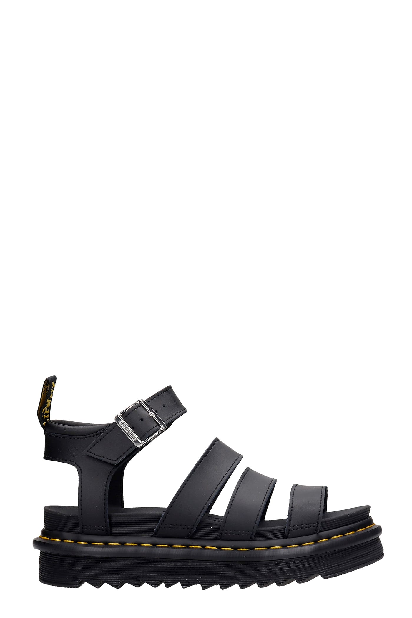 Dr. Martens Leathers BLAIRE SANDALS IN BLACK LEATHER