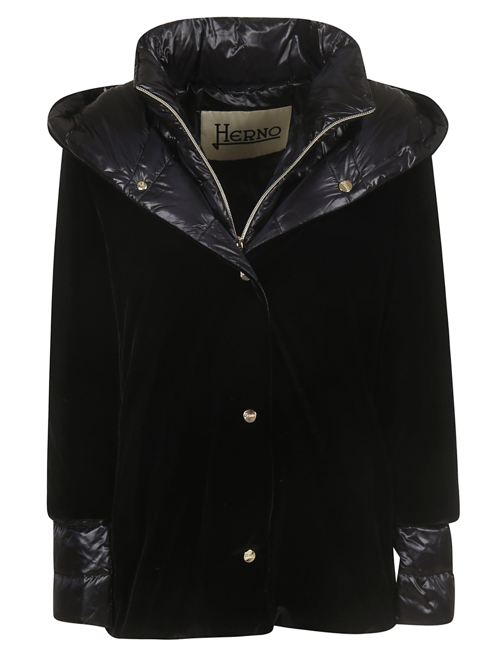 Herno Velvet Feather Zipped Jacket