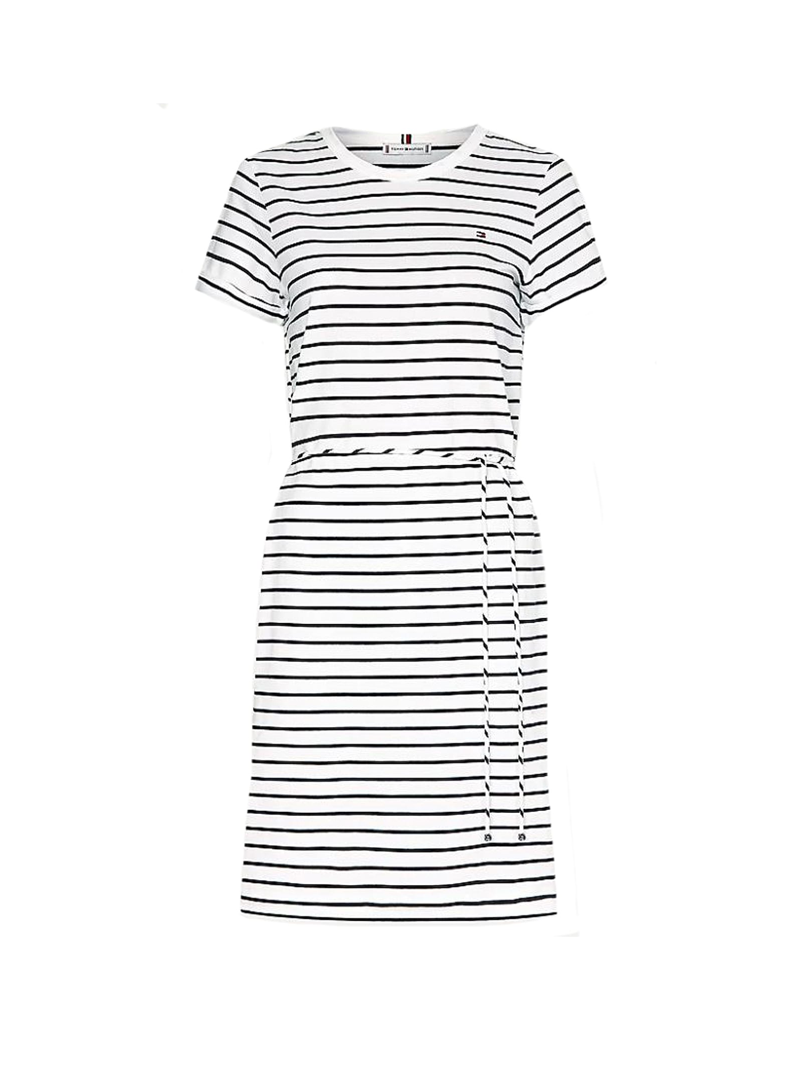 Buy Tommy Hilfiger Dress In White/blue Stripe online, shop Tommy Hilfiger with free shipping