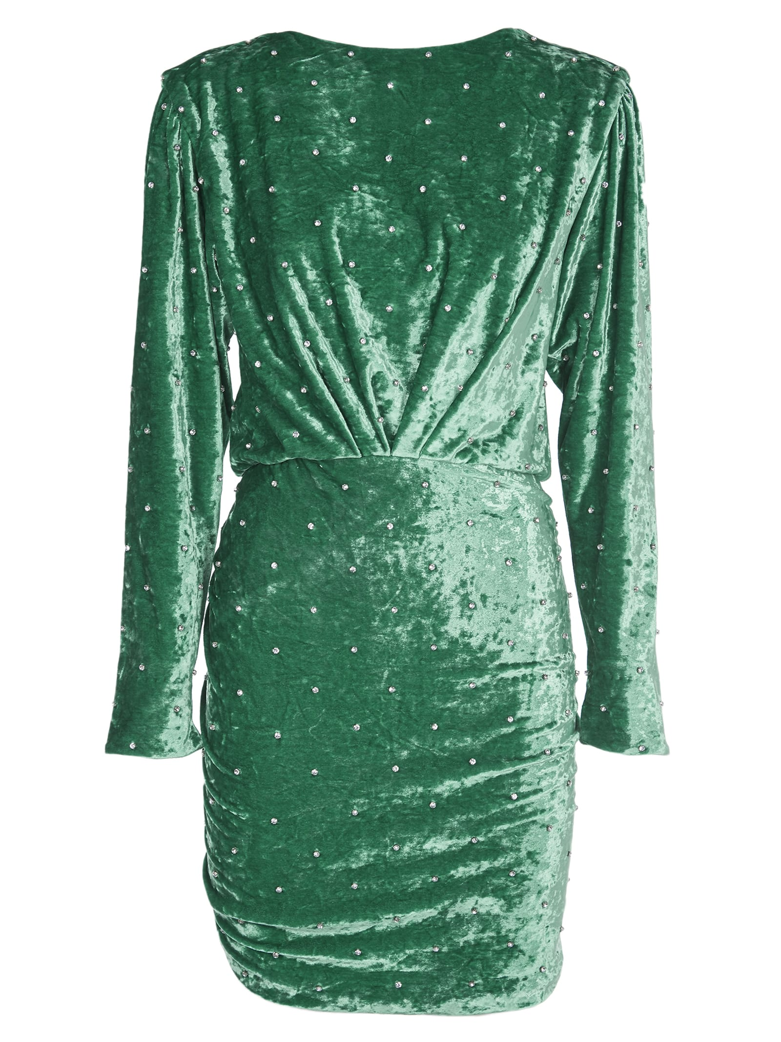 The Attico Stud Detail Green Dress