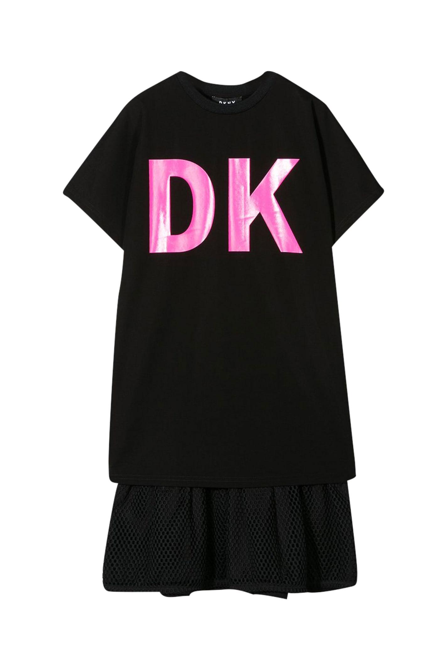 Buy Dkny Kids Logo T-shirt Dress online, shop DKNY with free shipping