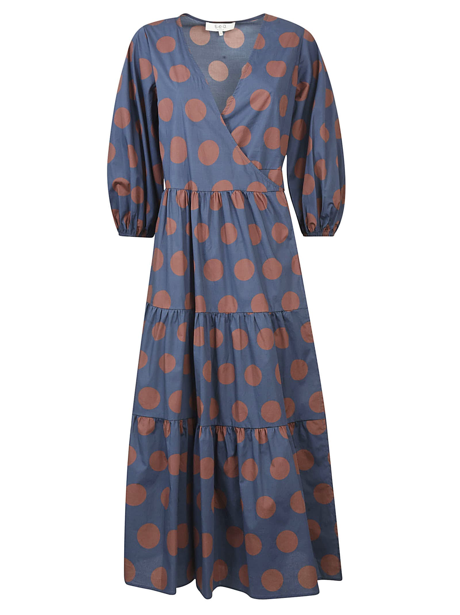 Buy Sea Penny Tiered Wrap Dress online, shop Sea with free shipping