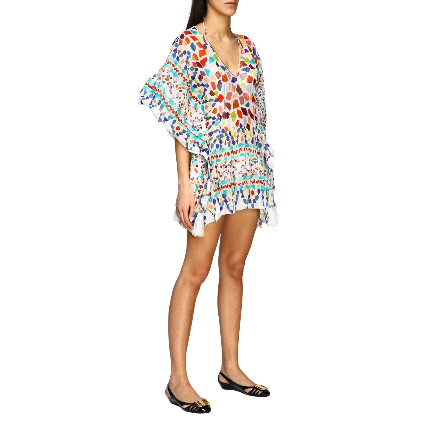 Buy Missoni Mare Tunic Missoni Mare Kaftan Dress In Cotton With Mosaic Print online, shop Missoni with free shipping