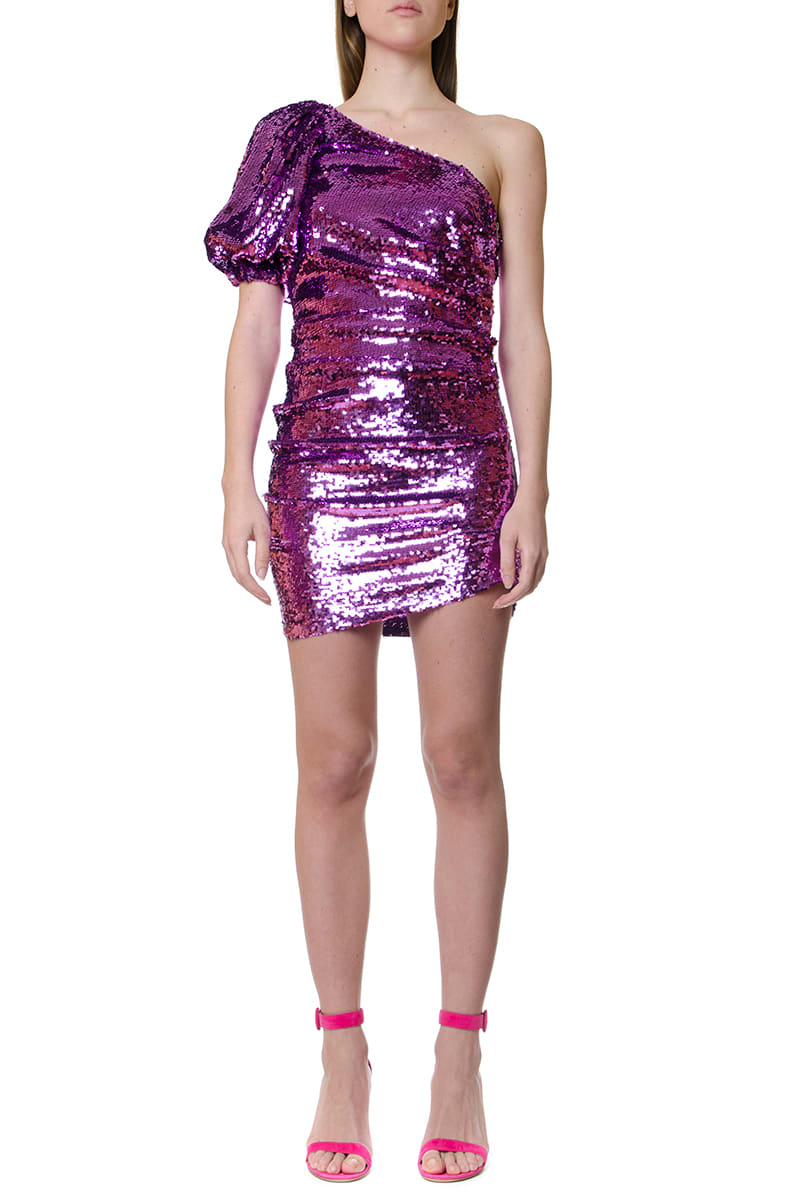 Buy For Love & Lemons One-shoulder Dress Covered With Sequins online, shop For Love & Lemons with free shipping