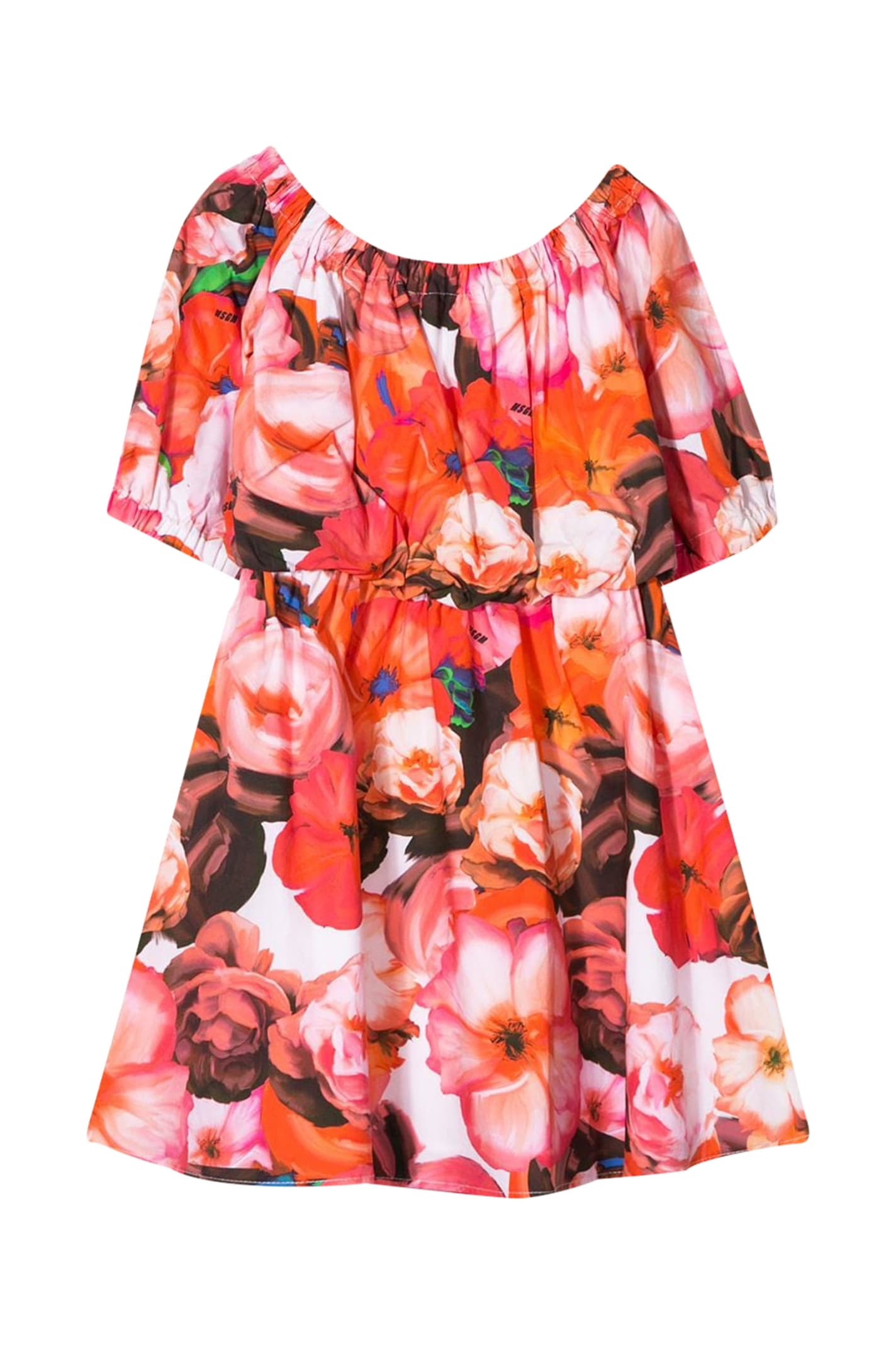 Buy Msgm Kids Flower Printed Dress online, shop MSGM with free shipping