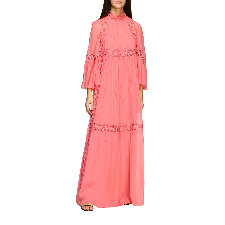 Buy Alberta Ferretti Dress Alberta Ferretti Long Organza Dress With Embroidery online, shop Alberta Ferretti with free shipping