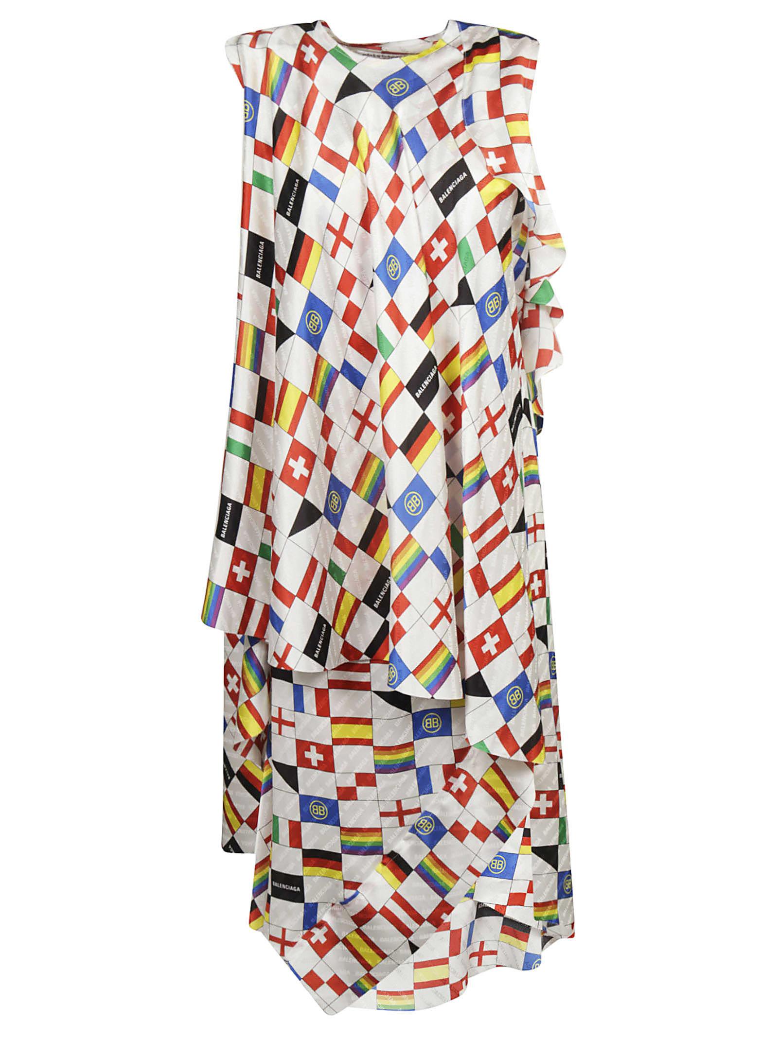 Balenciaga Flag Print Dress