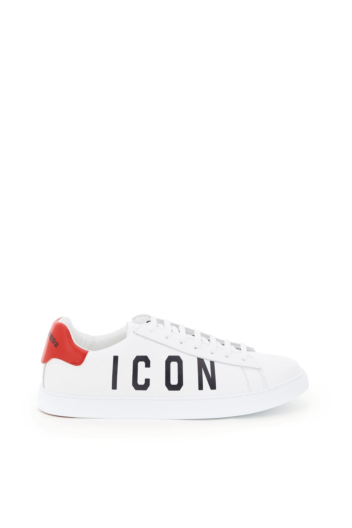 Dsquared2 Leathers NEW TENNIS LEATHER SNEAKERS ICON LOGO