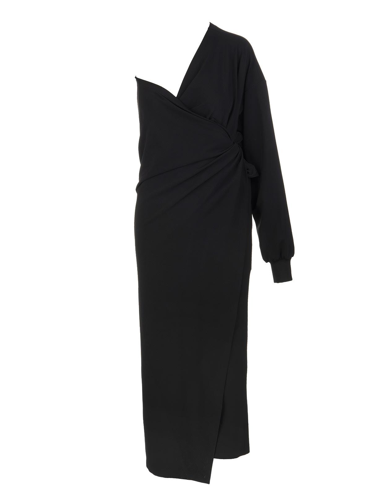 Buy Black Body Wrap Dress online, shop Balenciaga with free shipping