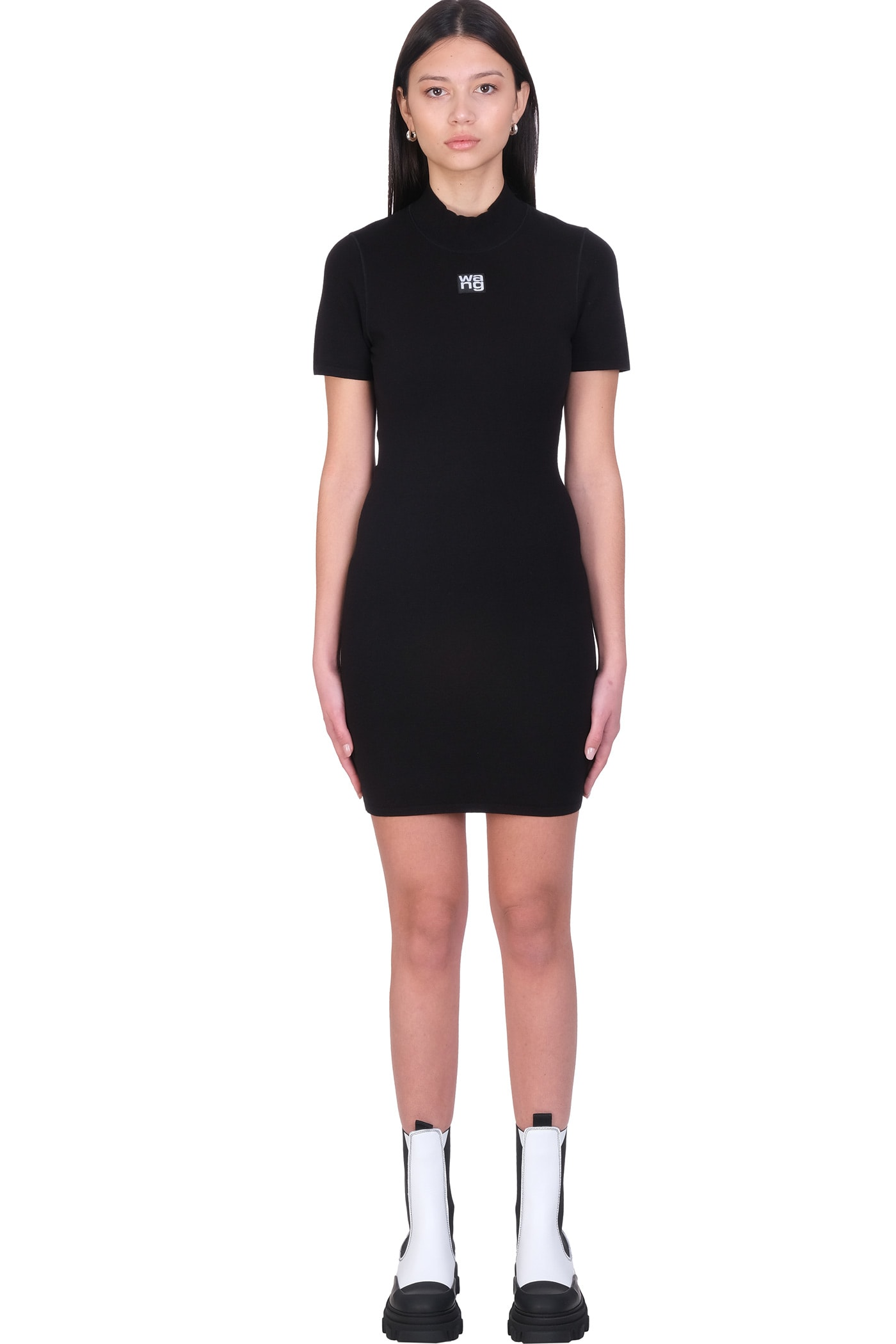 Alexander Wang Dress In Black Synthetic Fibers
