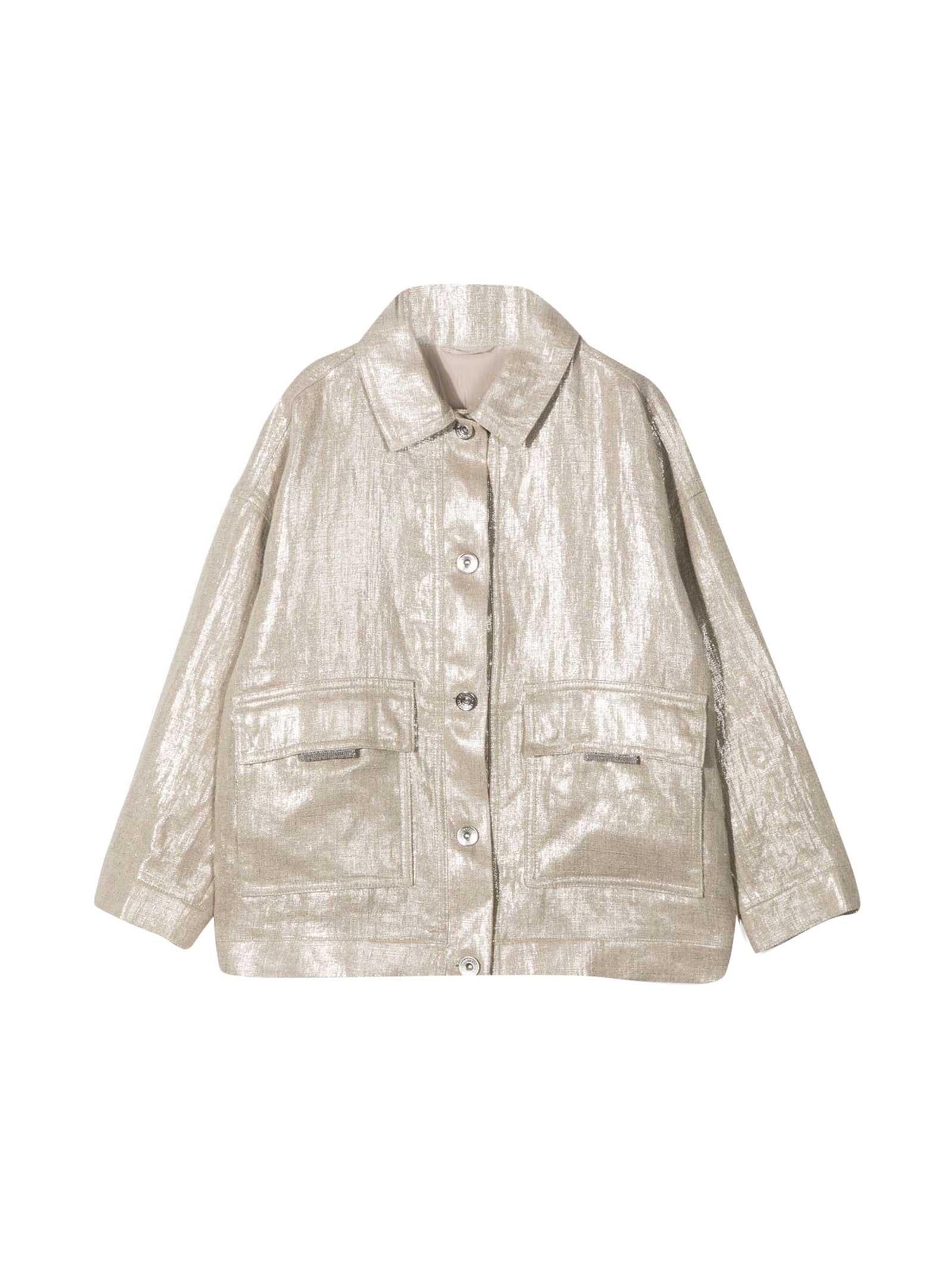 Brunello Cucinelli Bruno Cucinelli Kids Waxed Teen Jacket