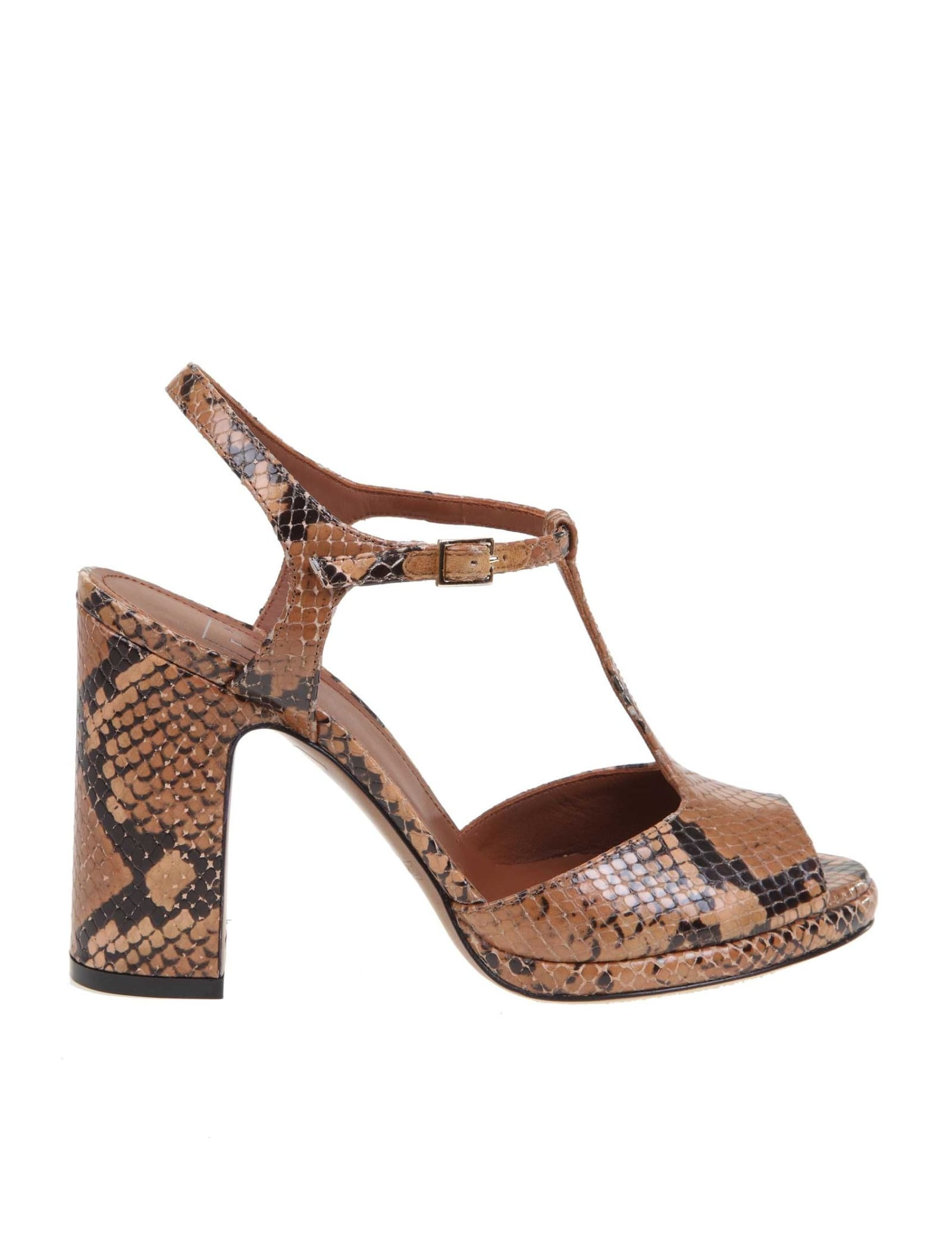 Lautre Chose Pythoned Leather Sandal