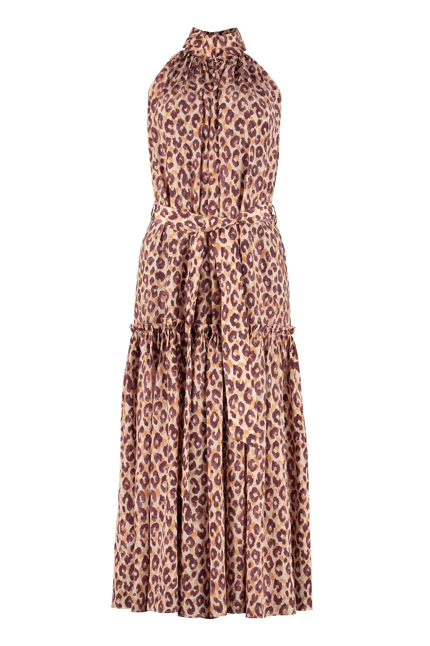 Buy Zimmermann Leopard-print Silk Maxi Dress online, shop Zimmermann with free shipping