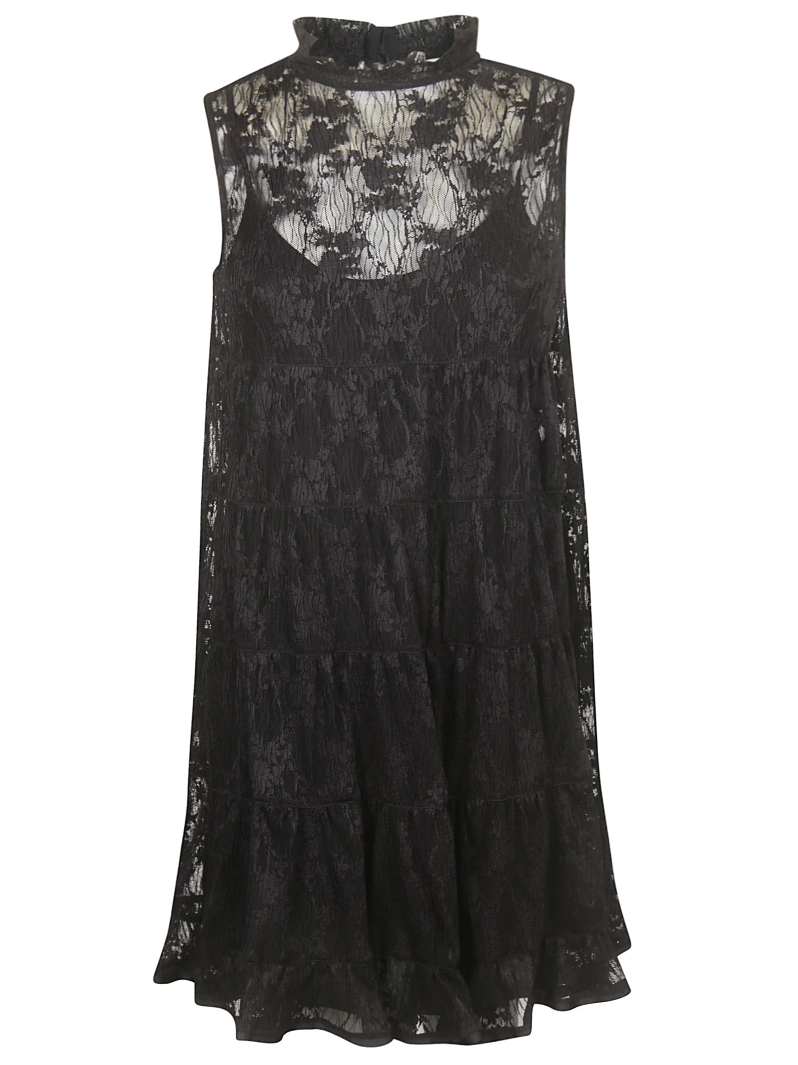 Buy See by Chloé Laced Sleeveless Dress online, shop See by Chloé with free shipping