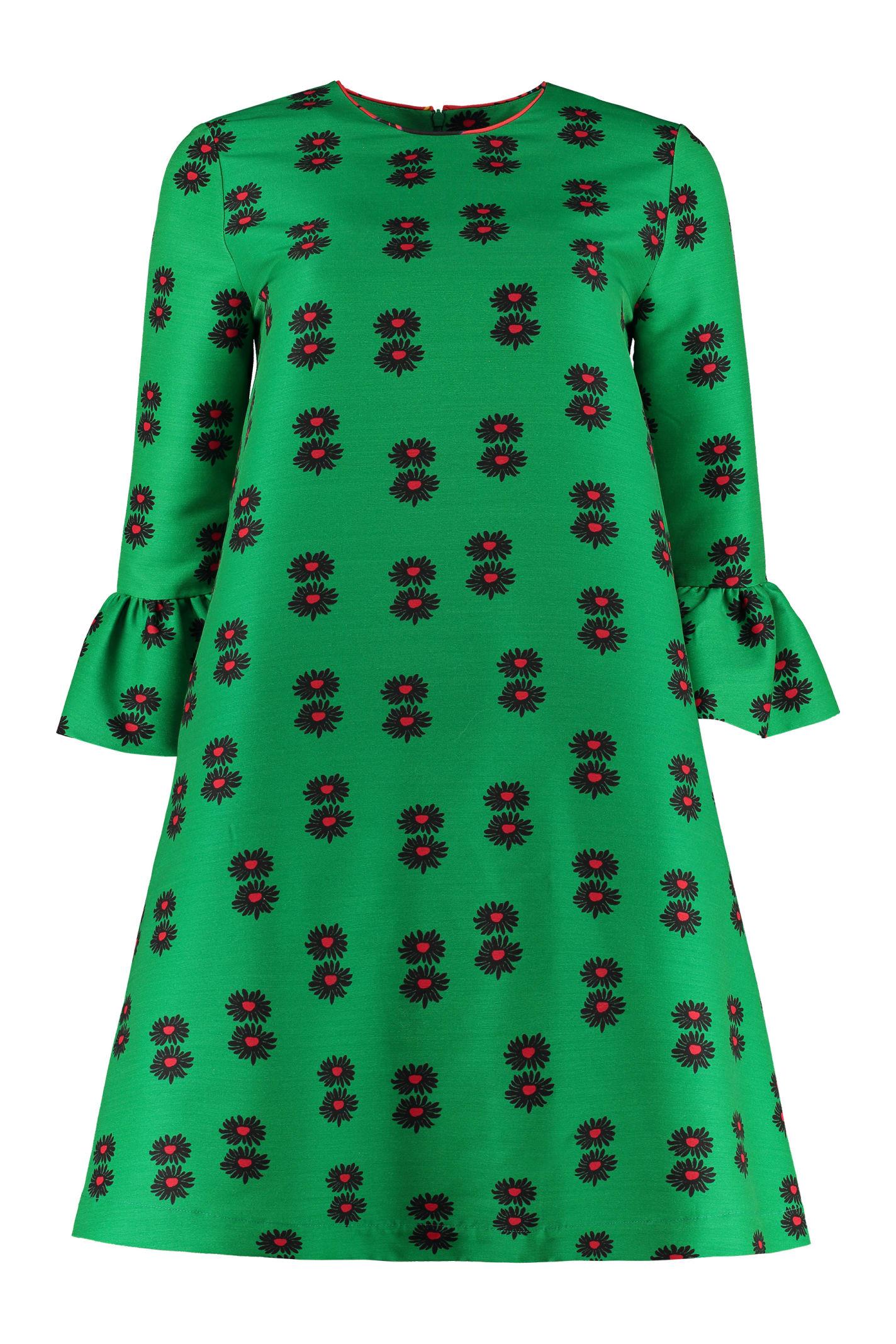 La DoubleJ Printed Cady Mini-dress