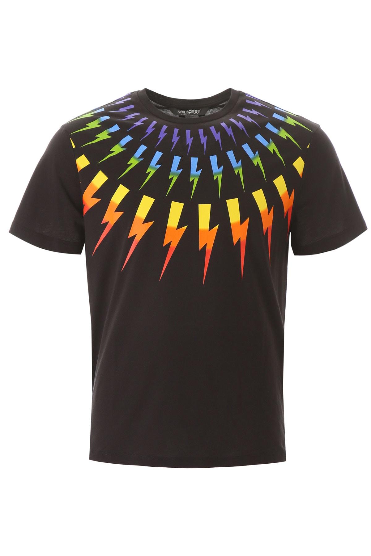 Neil Barrett Rainbow Thunder T-shirt