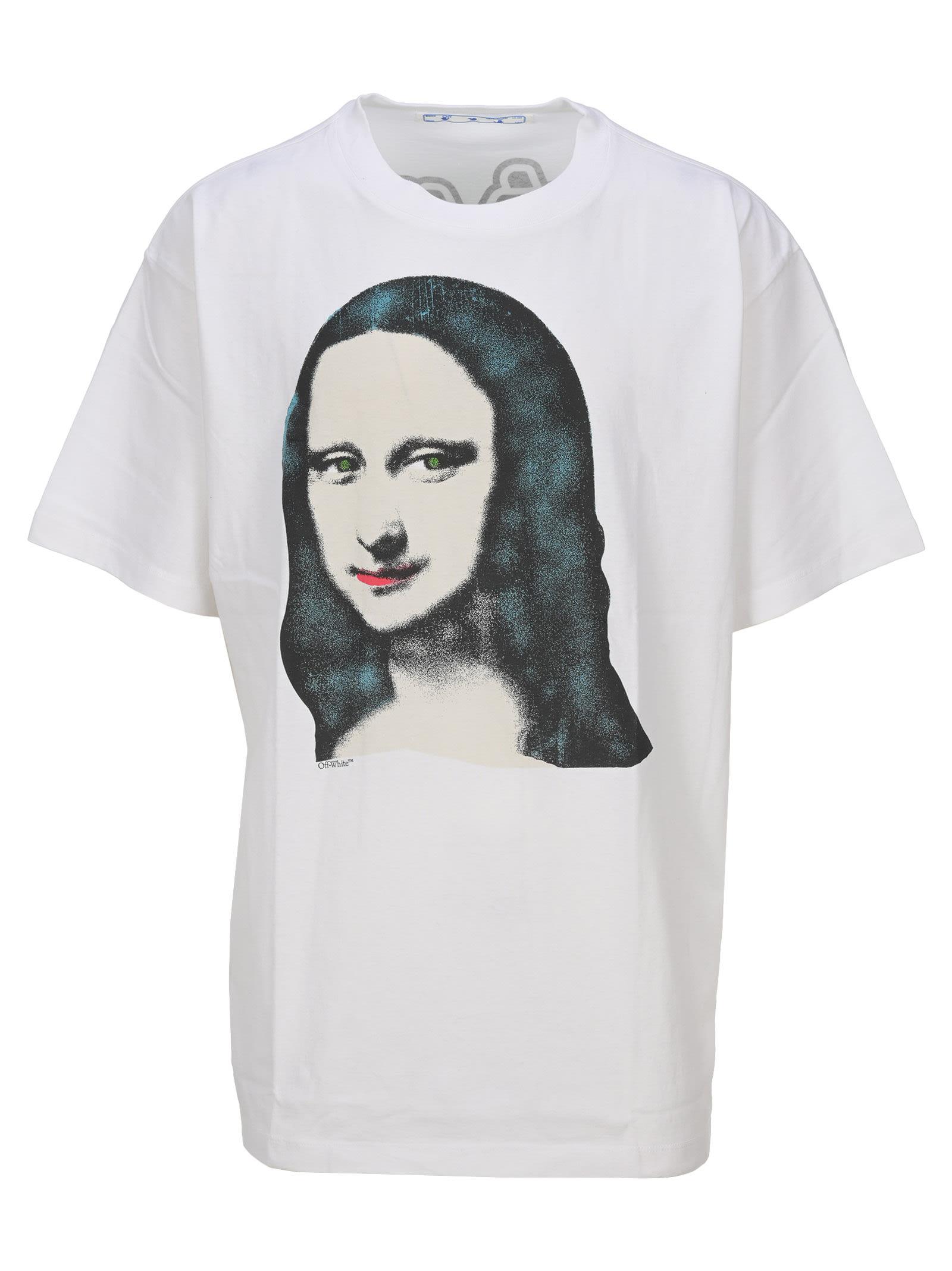 Off White Mona Lisa-print Oversized T-shirt