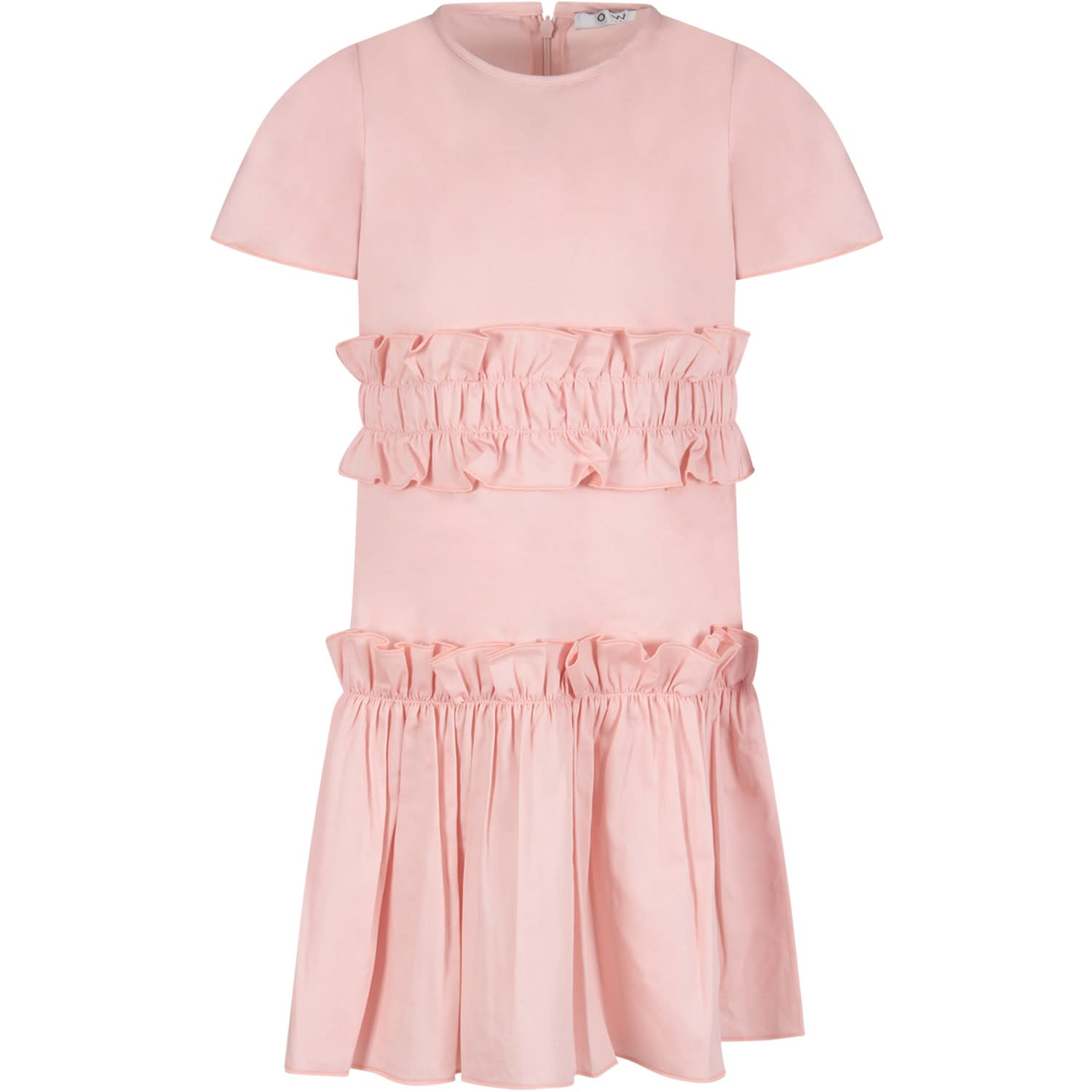 Buy Owa Yurika Pink agnes Girl Dress online, shop Owa Yurika with free shipping