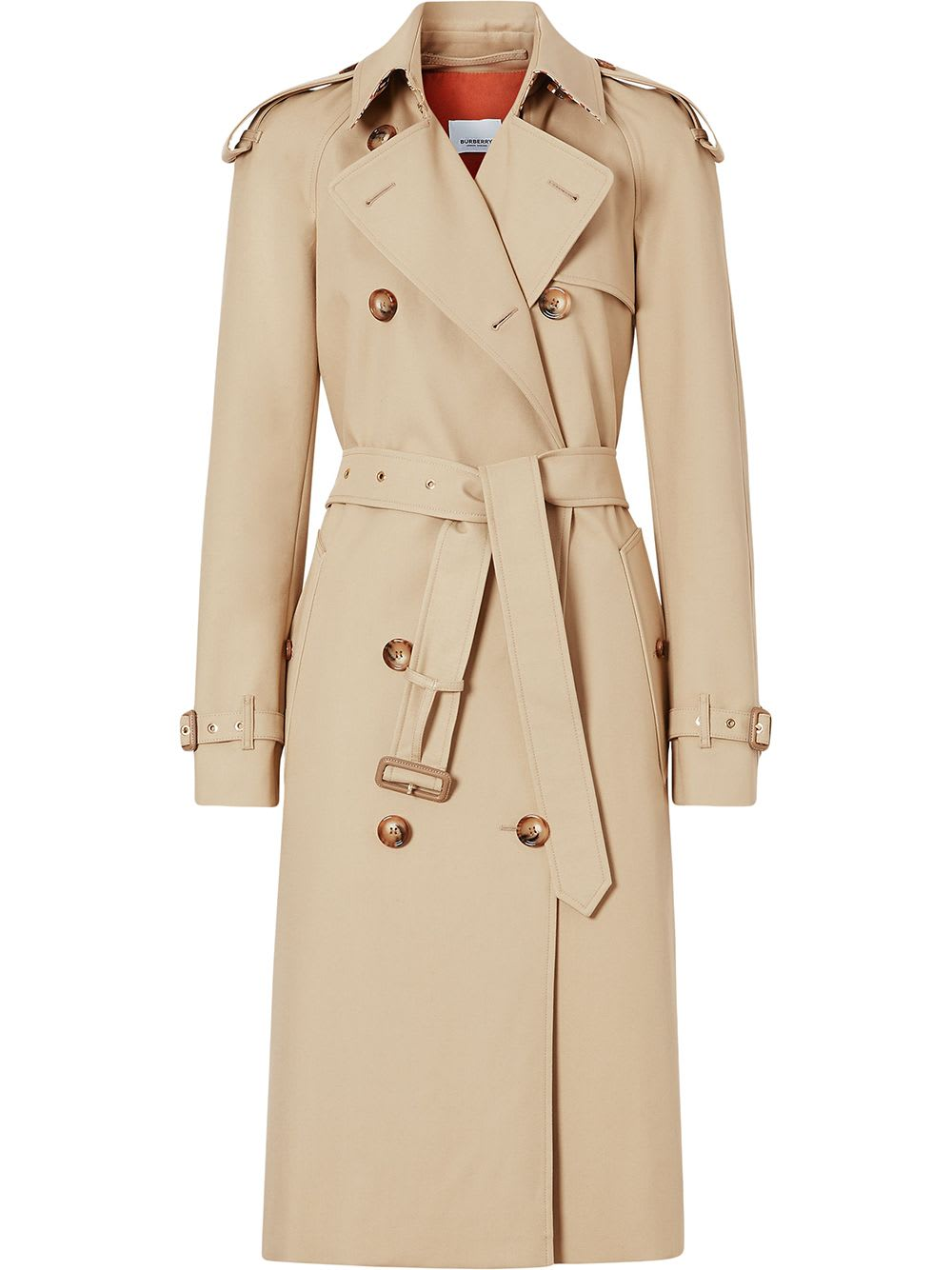 Burberry Cottons MONOGRAM-LINED TRENCH COAT